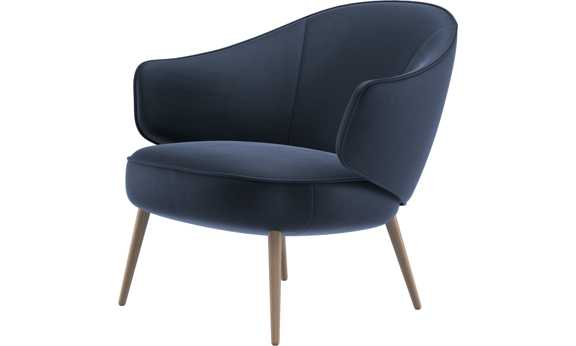 Armchairs - Charlotte chair - Blue - Leather