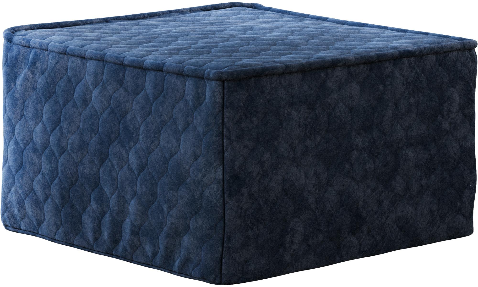 Sofy rozkładane - Puf Xtra z funkcją spania - Niebieski - Tkanina