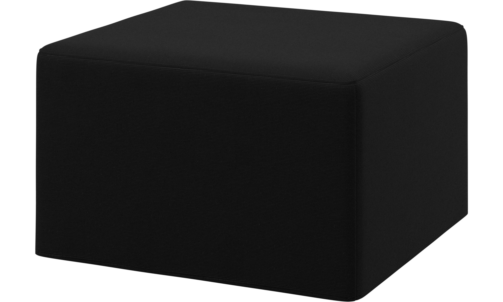 ... Ottomans   Xtra Footstool With Sleeping Function   Black   Fabric ...