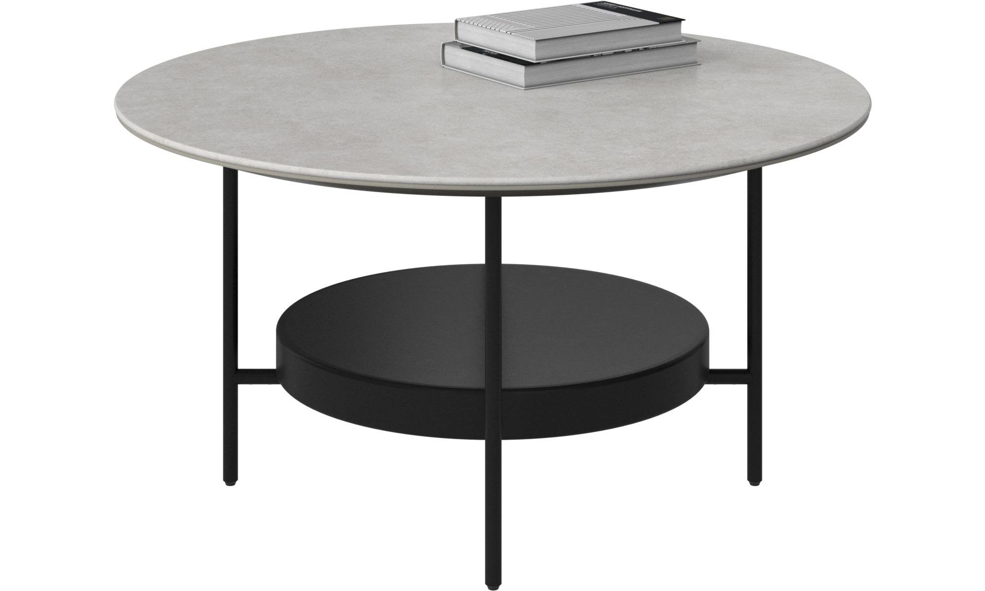 Coffee Tables Madrid Table Round Gray Ceramic
