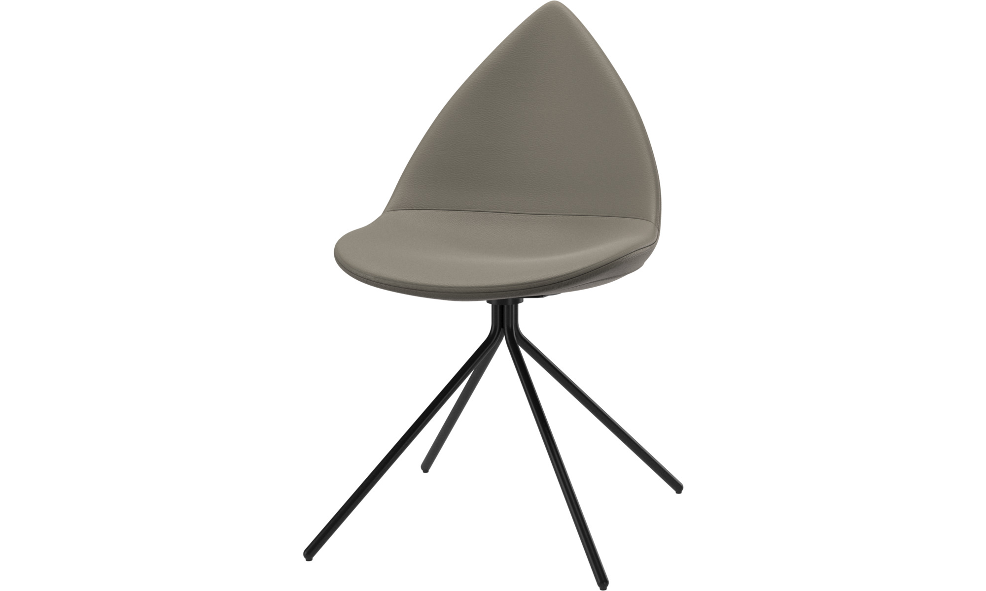 Dining chairs - Ottawa chair - Grey - Leather