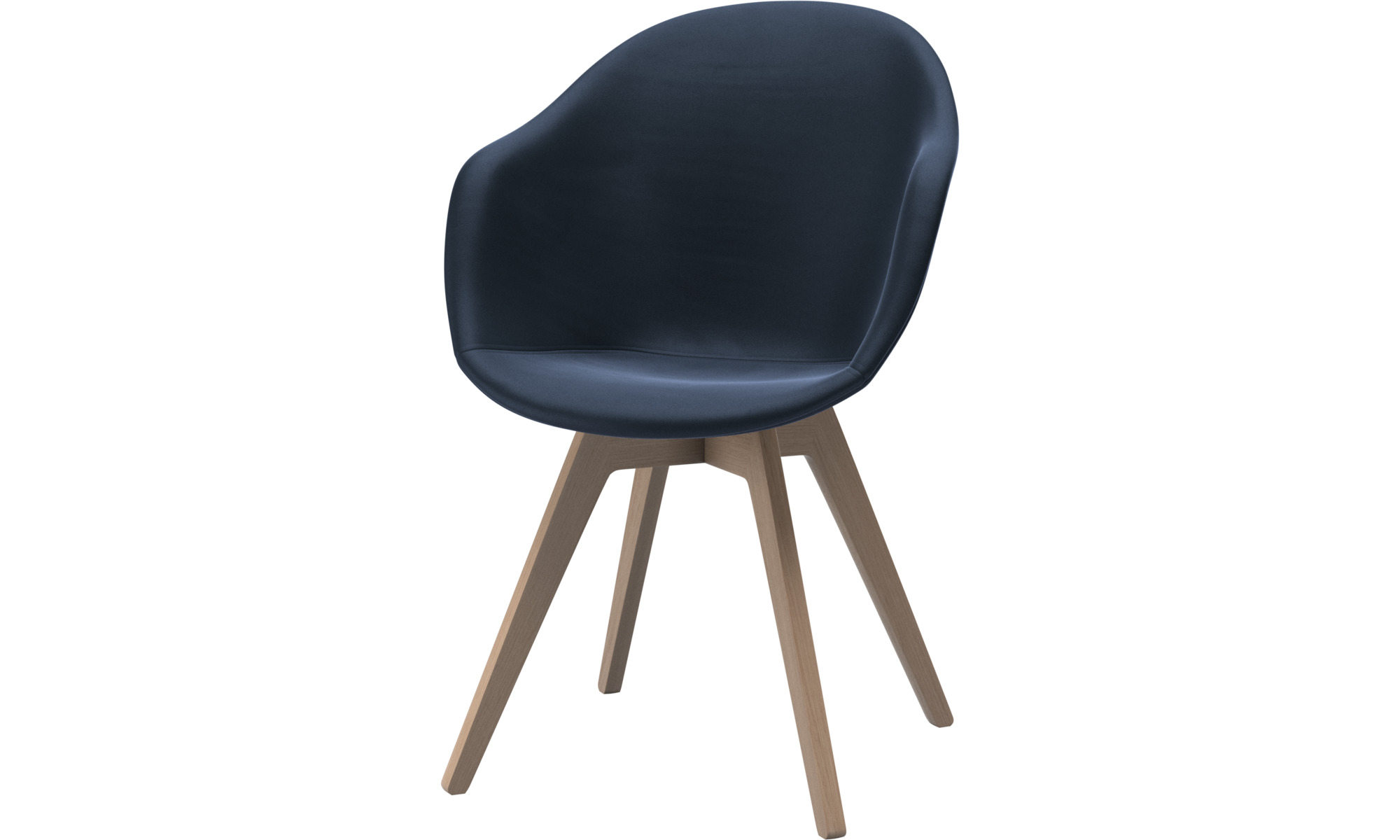 Dining chairs - Adelaide chair - Blue - Leather
