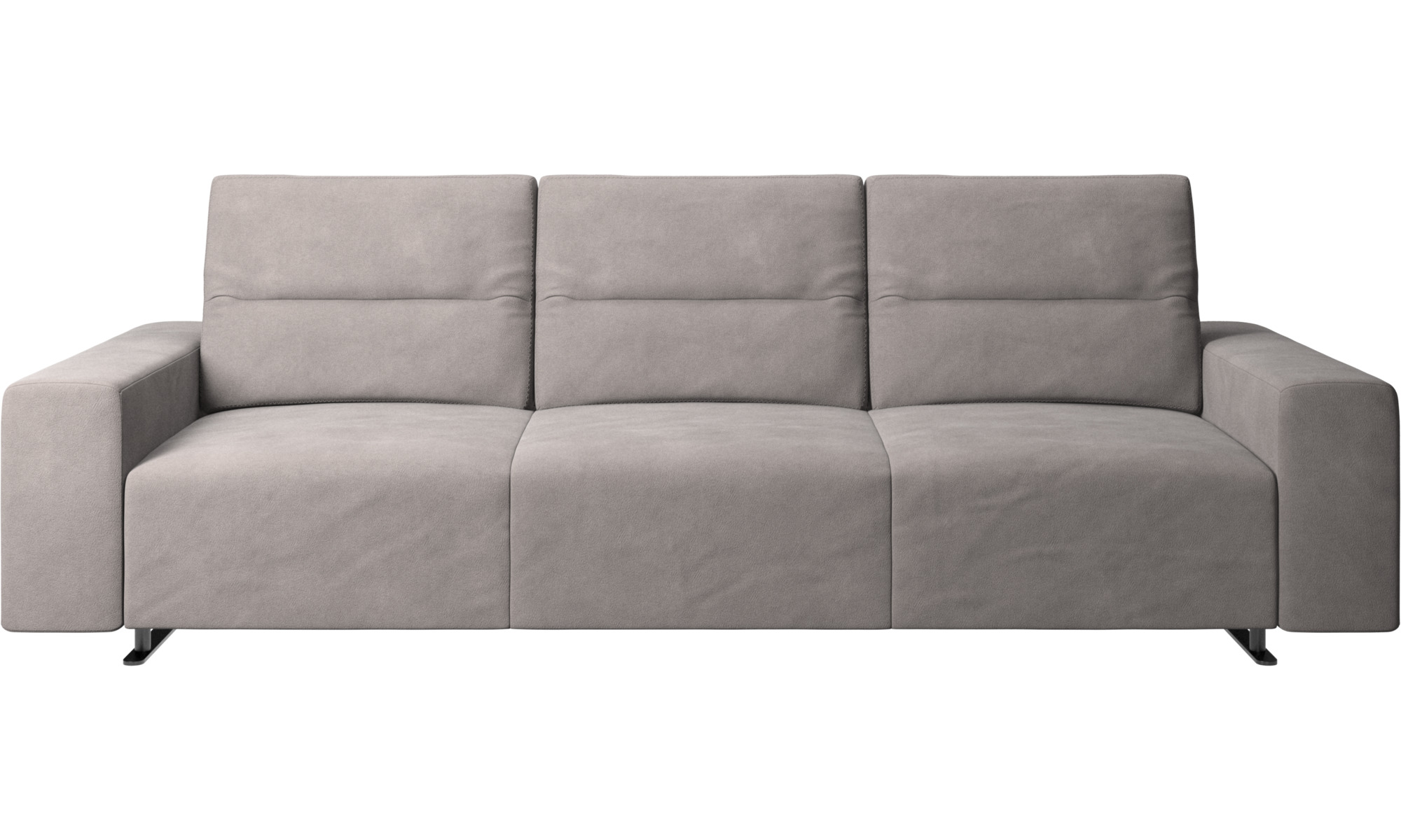 3 Seater Sofas Hampton Sofa With Adjule Back Gray Fabric