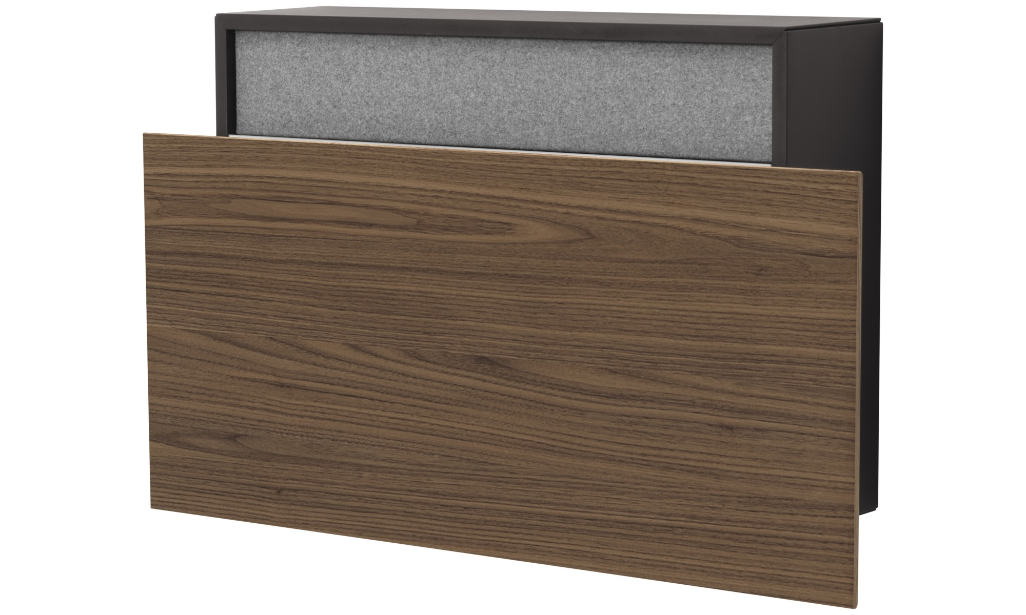 Desks - Cupertino wall office - rectangular - Black - Oak
