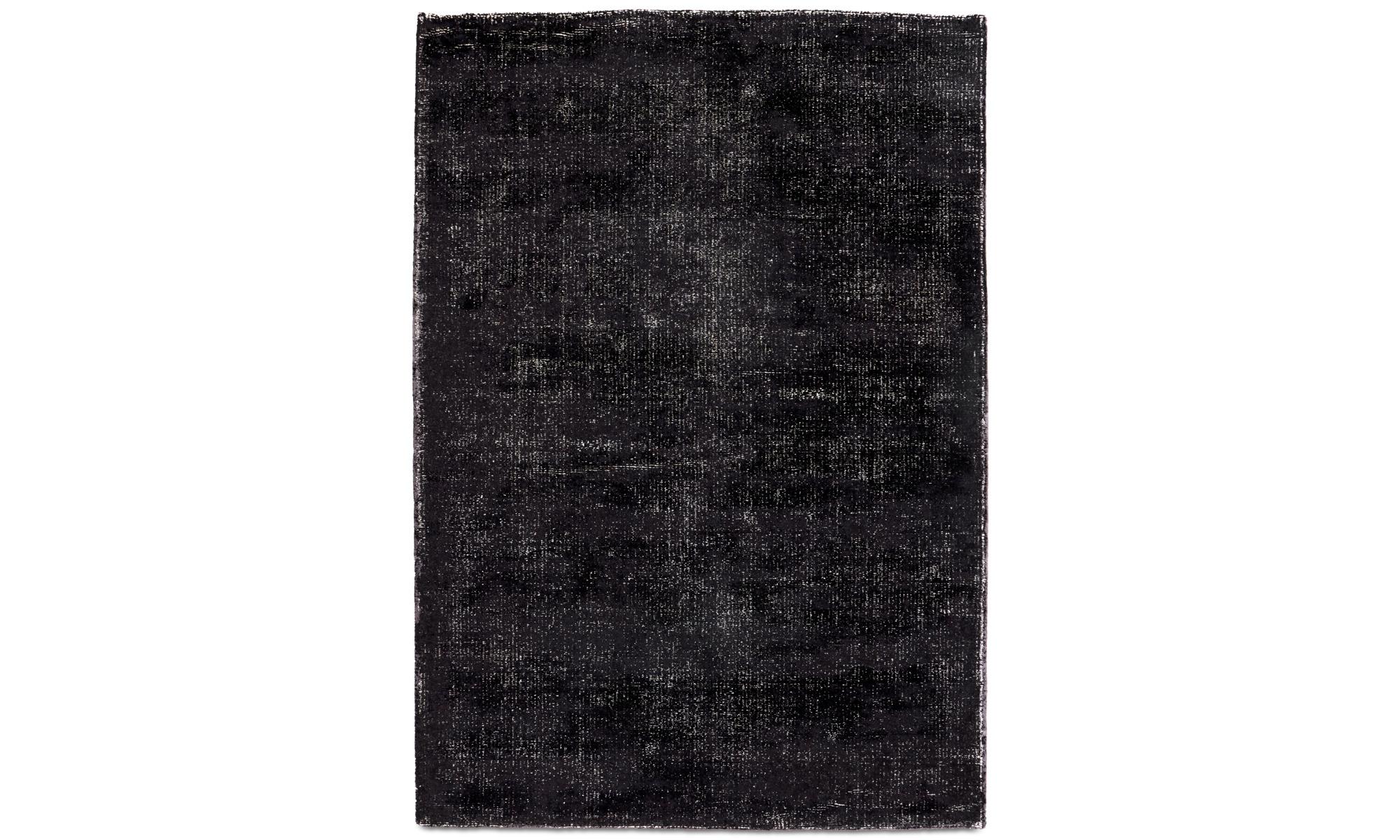 Mattor - Simple matta - rektangulär - Svart - Ull