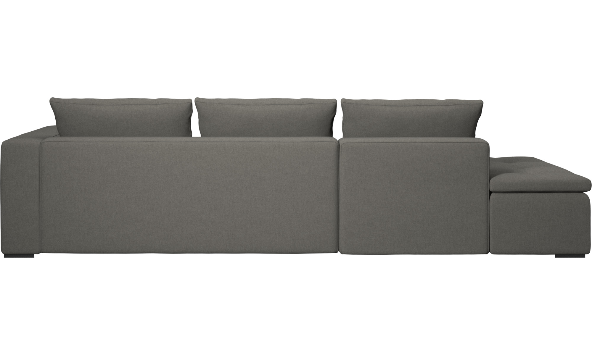 Sofas With Open End Mezzo Sofa Lounging Unit Gray Fabric