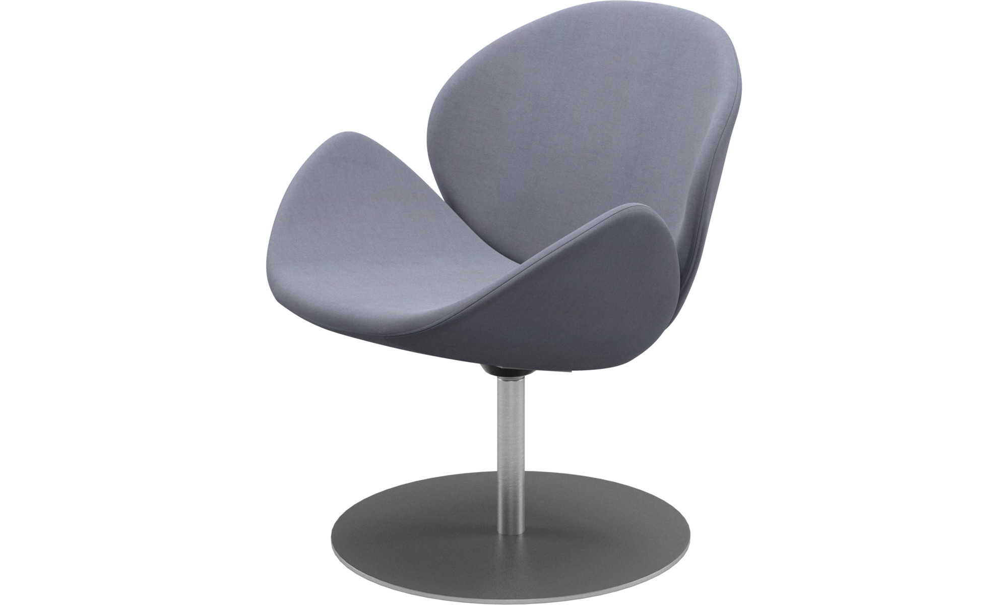 Armchairs - Ogi chair with swivel function - Blue - Fabric