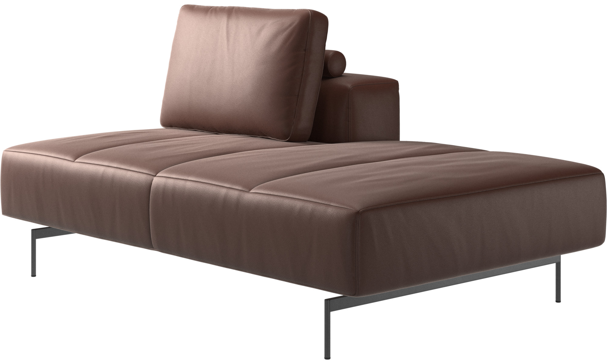 Modular Sofas Amsterdam Lounging Module For Sofa Small Armrest Right Brown Leather