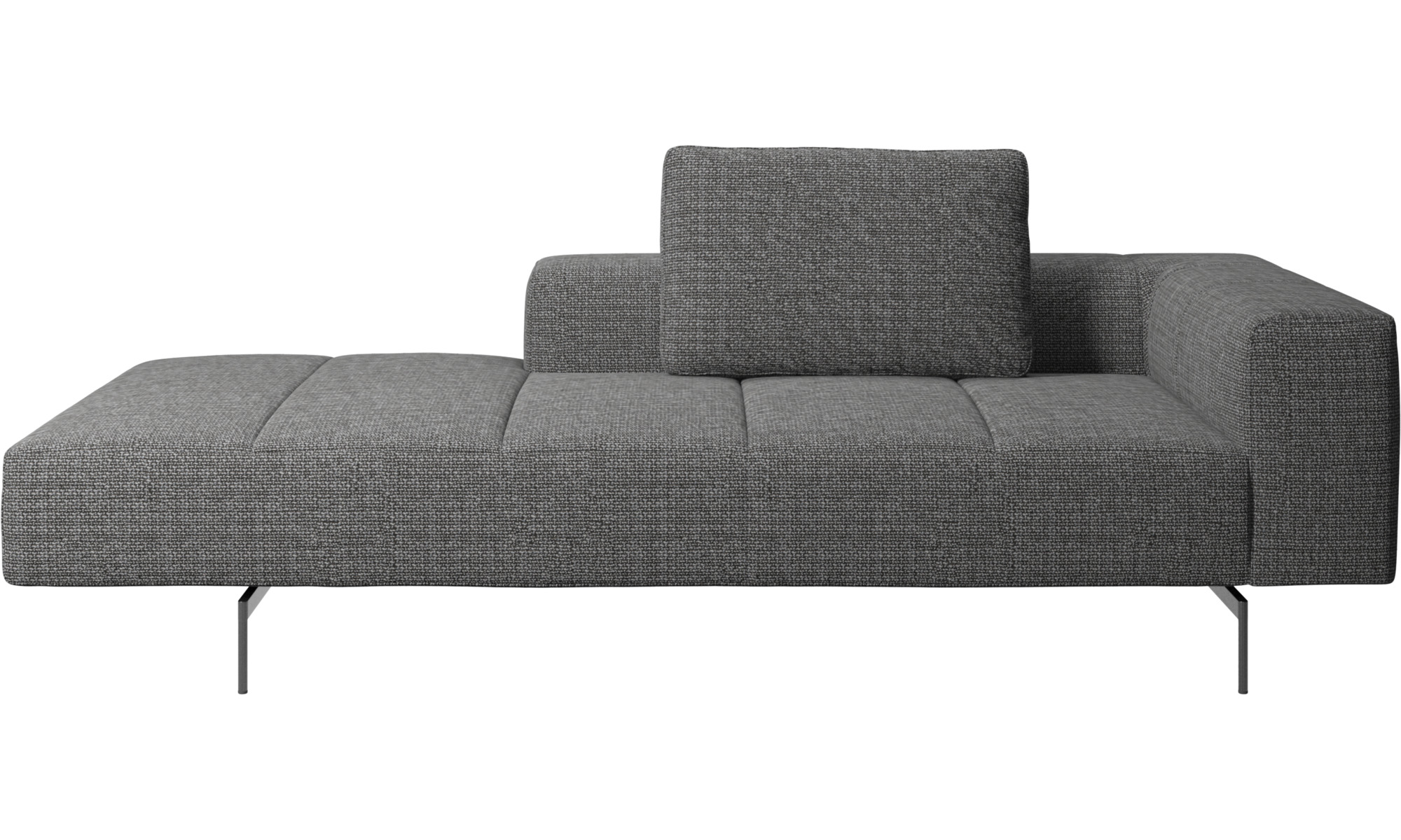 Modulære sofaer - Amsterdam modul til sofa, armlæn højre, open end venstre - Grå - Stof