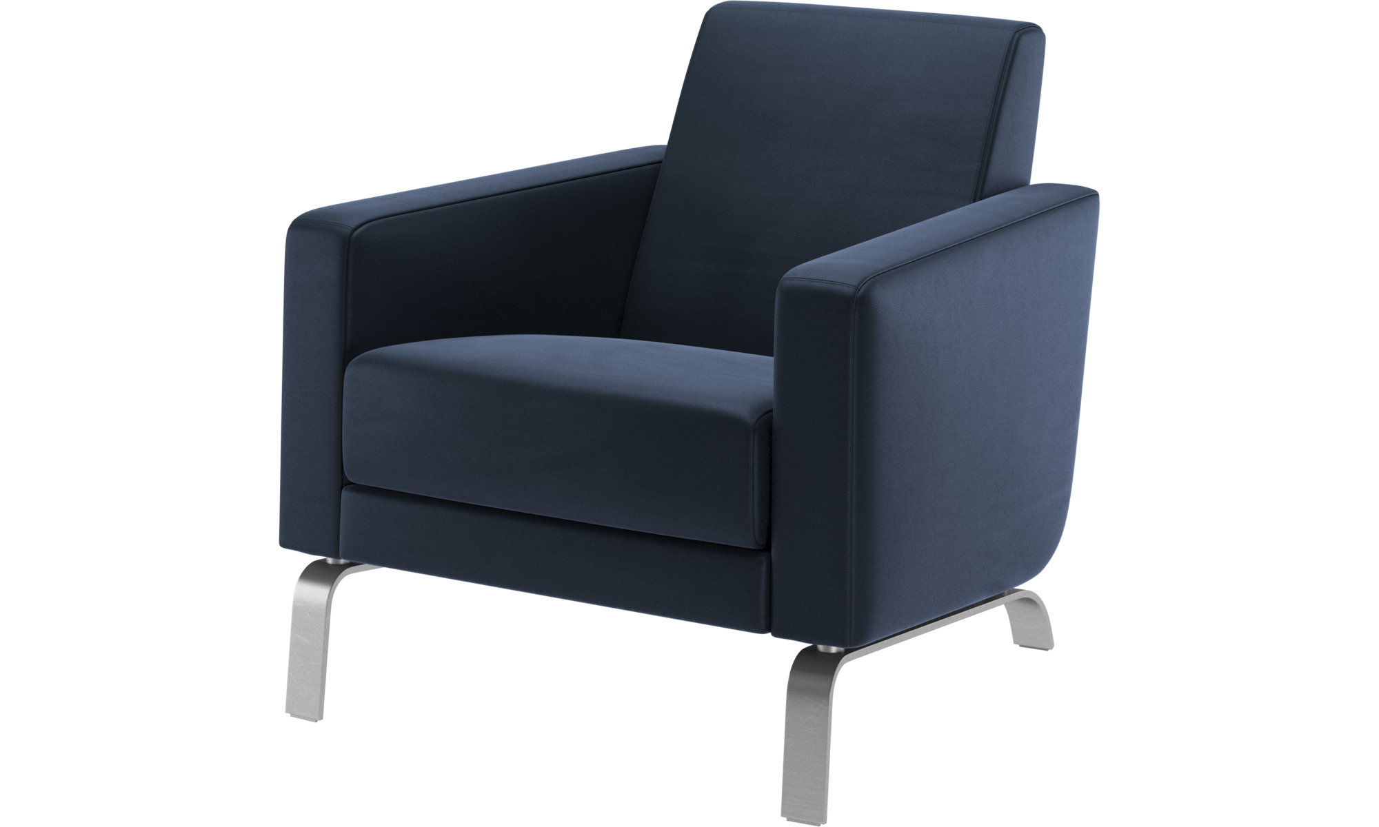 Armchairs - Fly chair - Blue - Leather