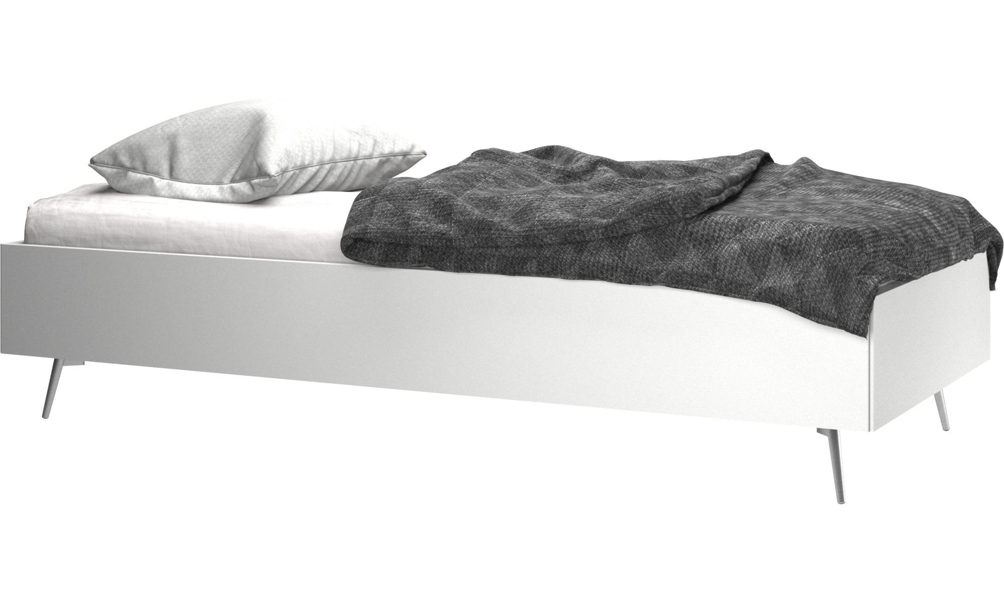 Camas - Cama Lugano, no incluye colchón - Blanco - Laca