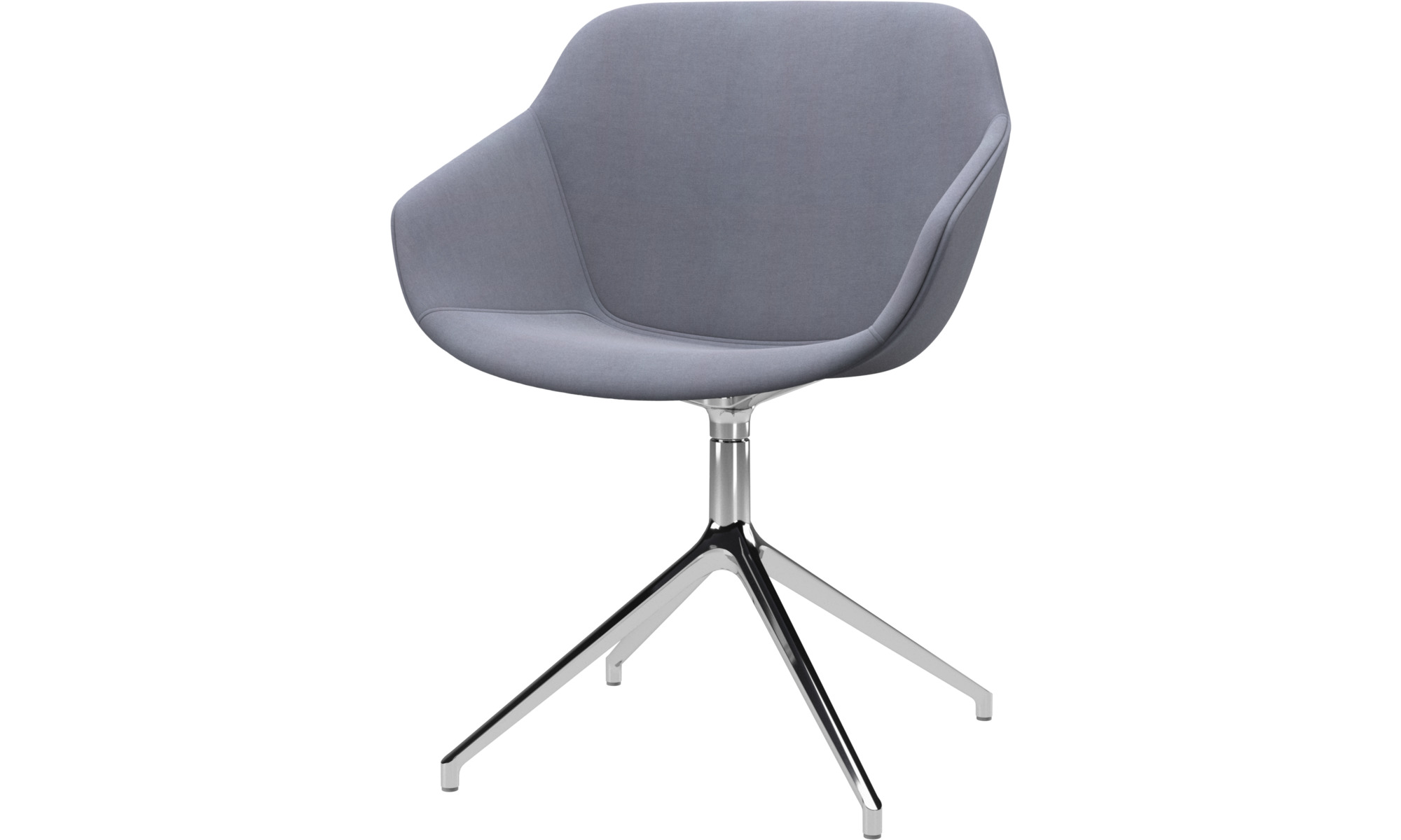 Dining chairs - Vienna chair with swivel function - Blue - Fabric