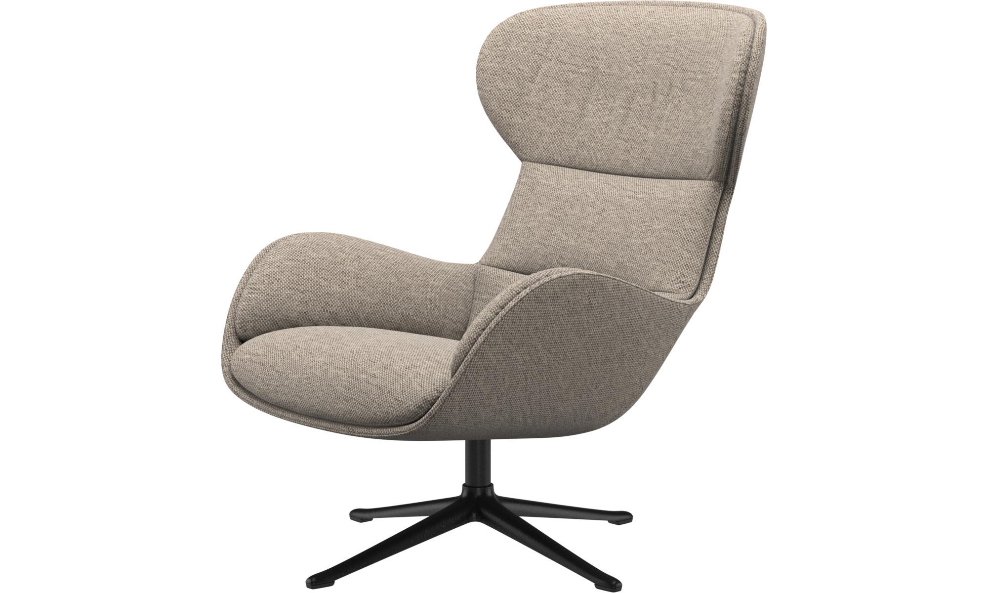 Sessel - Reno Sessel mit Drehfunktion - Beige - Stoff