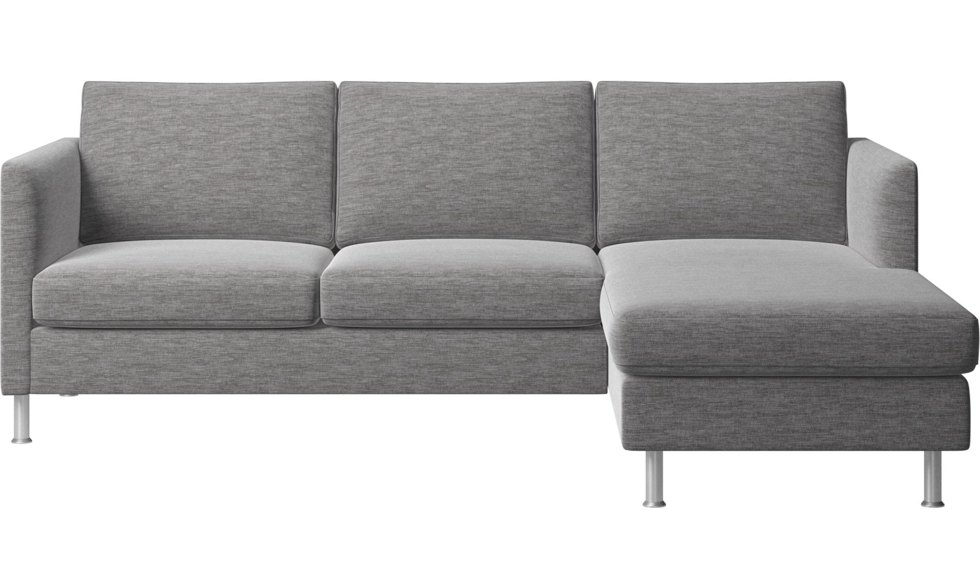 Canapés avec chaise longue - Canapé Indivi avec chaise longue - Gris - Tissu