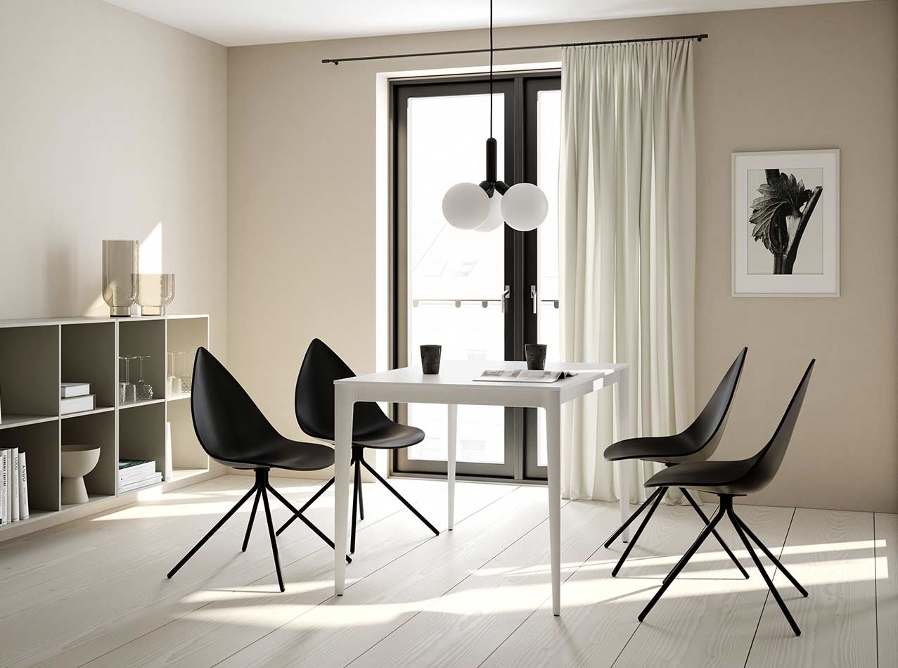Dining tables - Torino table with 4 Ottawa chairs