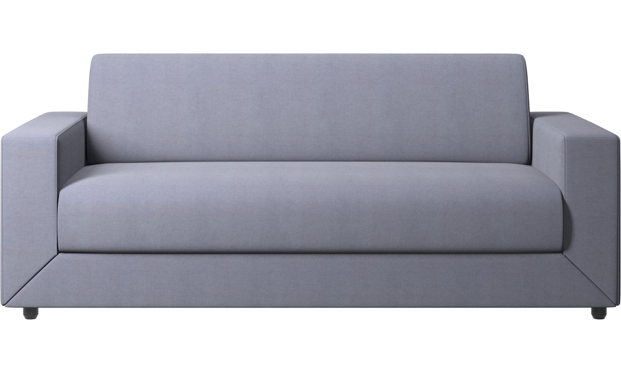 Sofy rozkładane - Sofa Stockholm z funkcją spania - Niebieski - Tkanina
