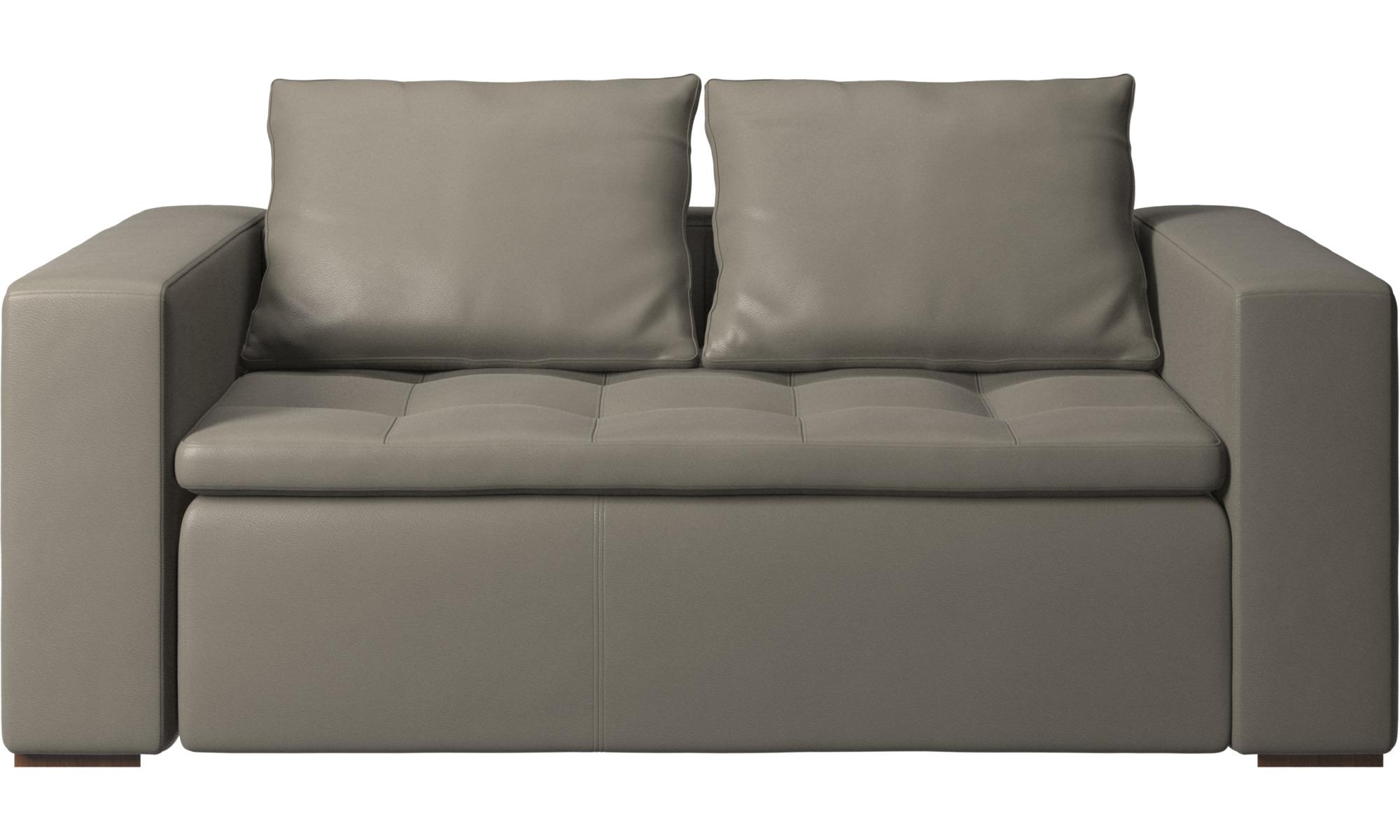 2 personers sofaer - Mezzo sofa - Grå - Læder