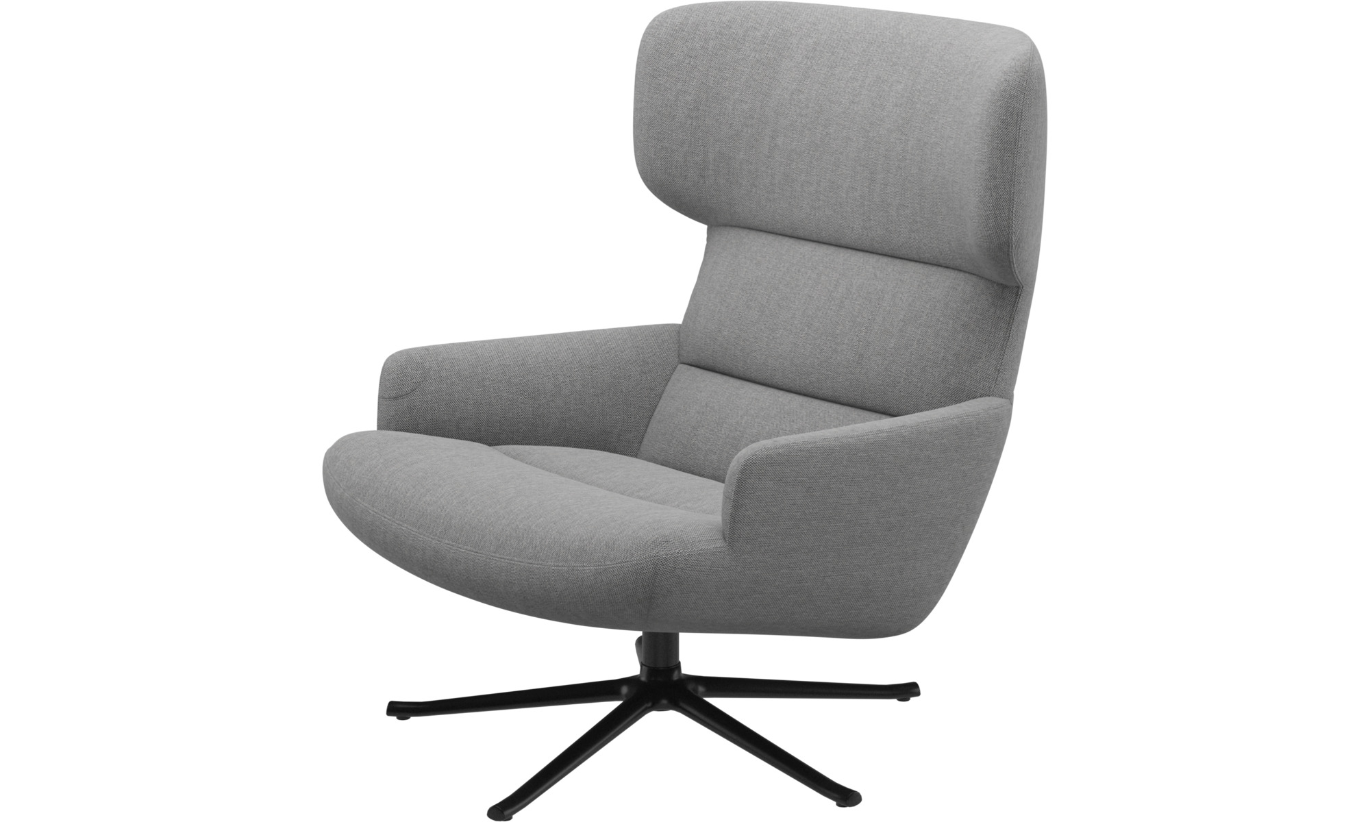 Armchairs - Trento chair with swivel function - Grey - Fabric