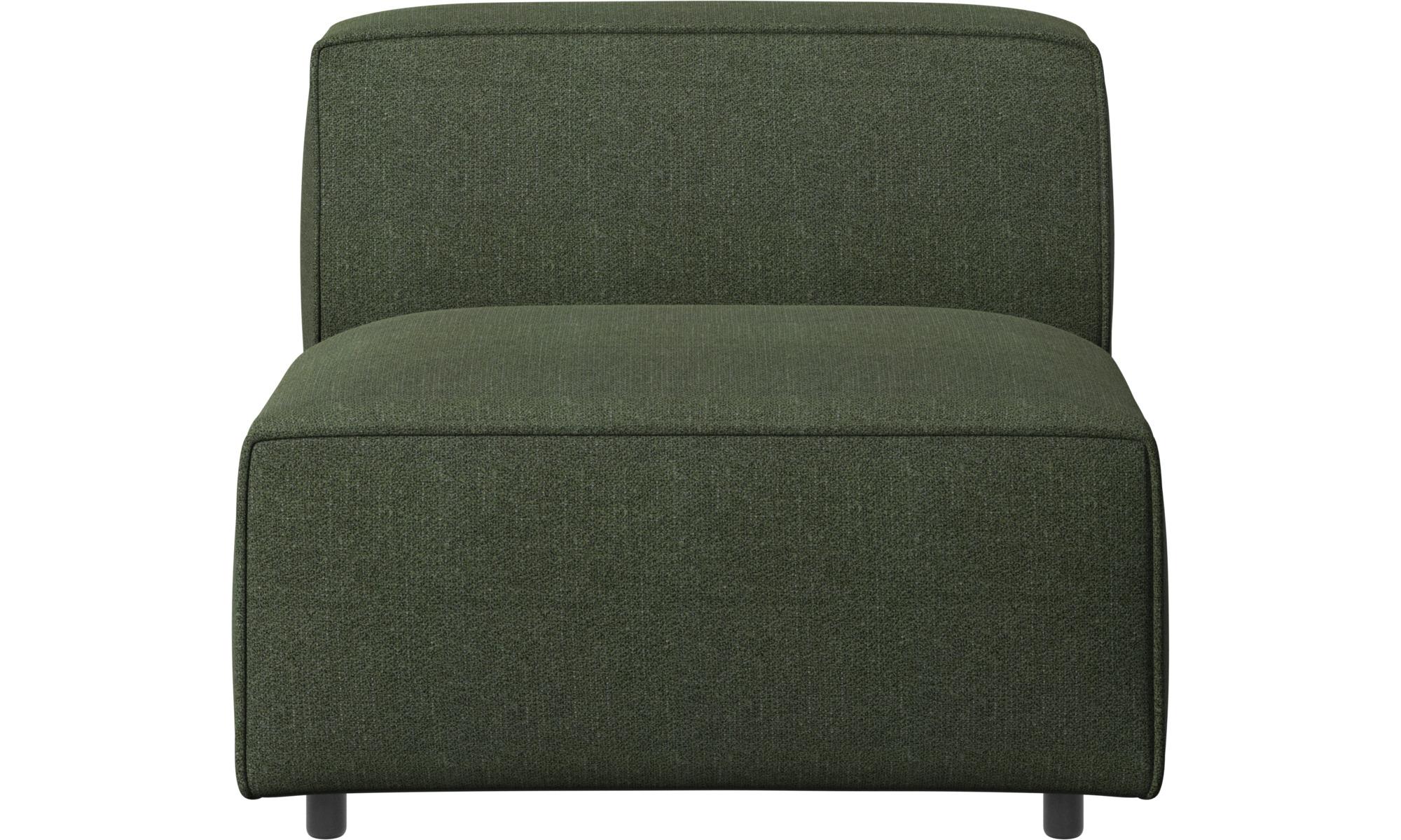 Armchairs - Carmo chair/basic unit - Green - Fabric