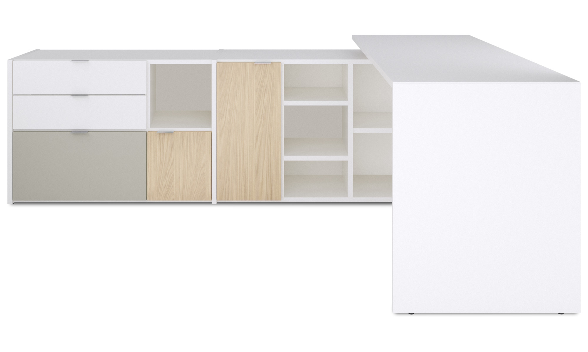Desks - Copenhagen office system - White - Lacquered