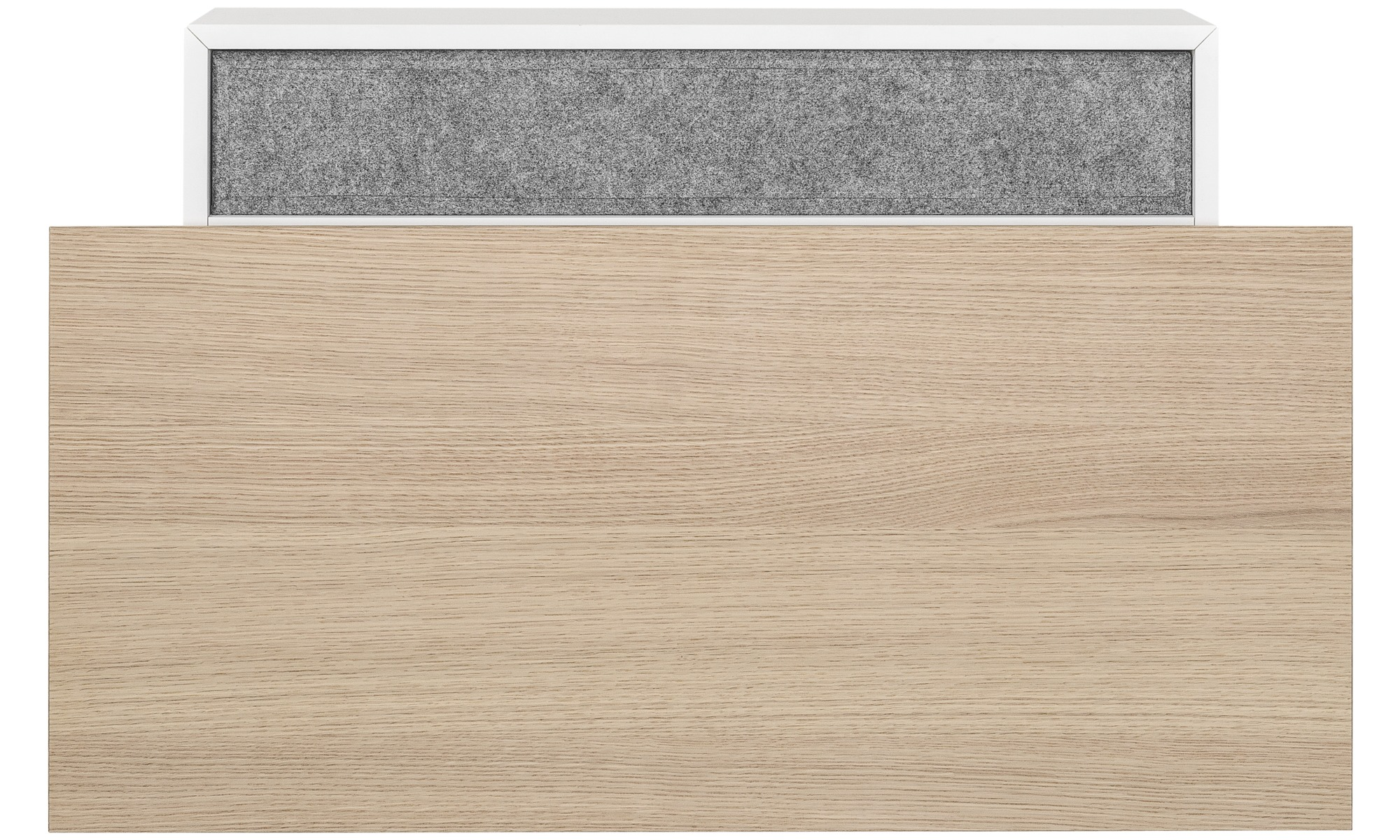 Desks - Cupertino wall office - rectangular - White - Lacquered