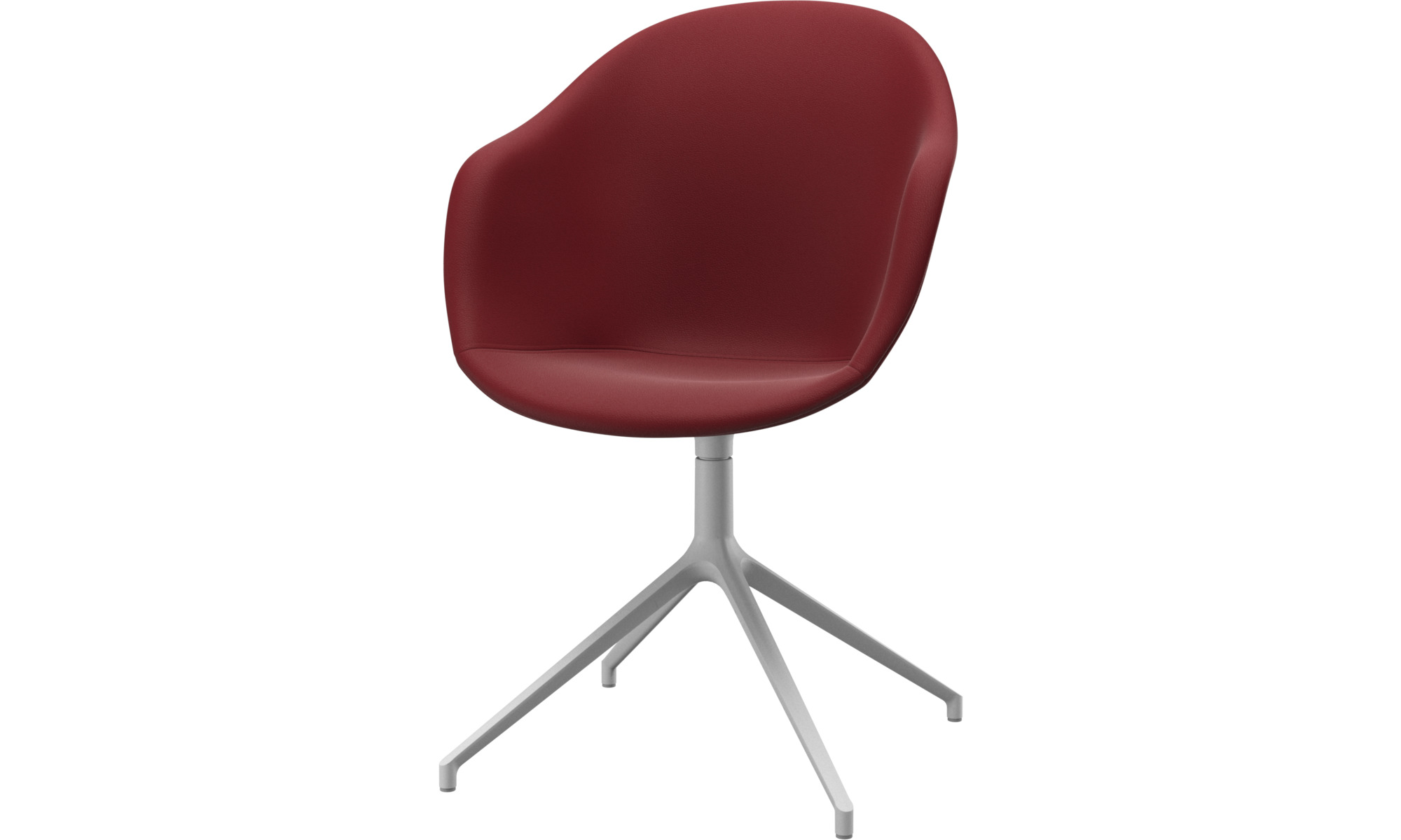 Home office chairs - Adelaide chair with swivel function - Red - Leather
