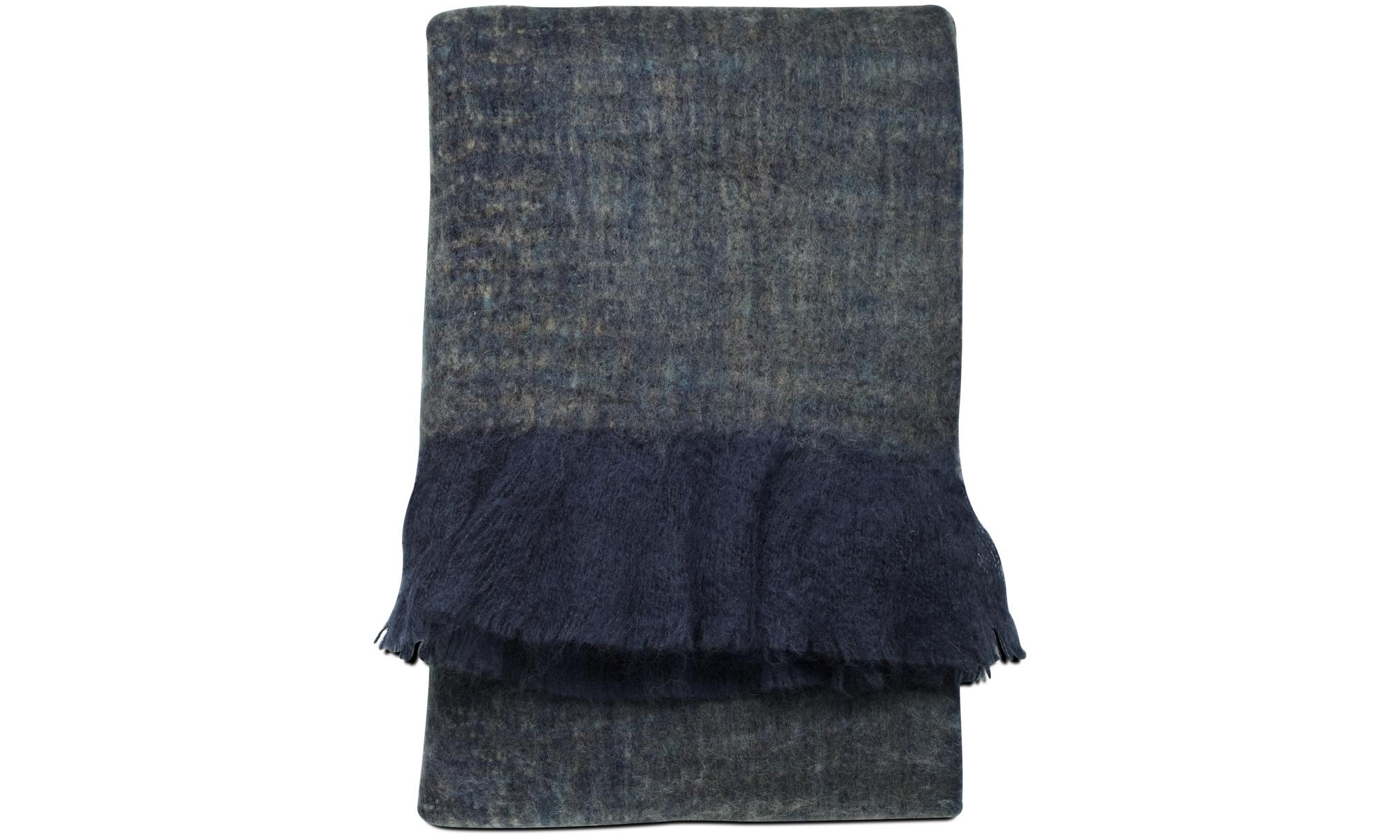 Narzuty - Pled Knit - Niebieski - Tkanina