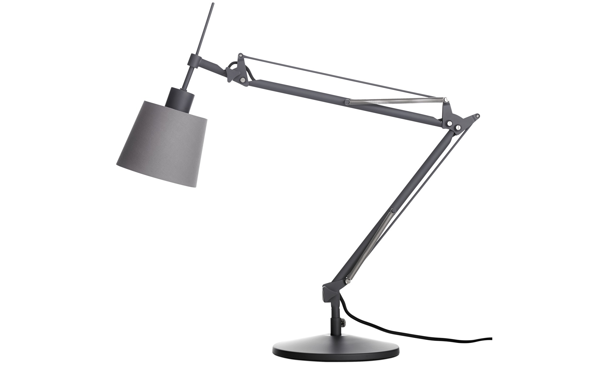 Lampy - Lampa stołowa Berlin - Szary - Metal