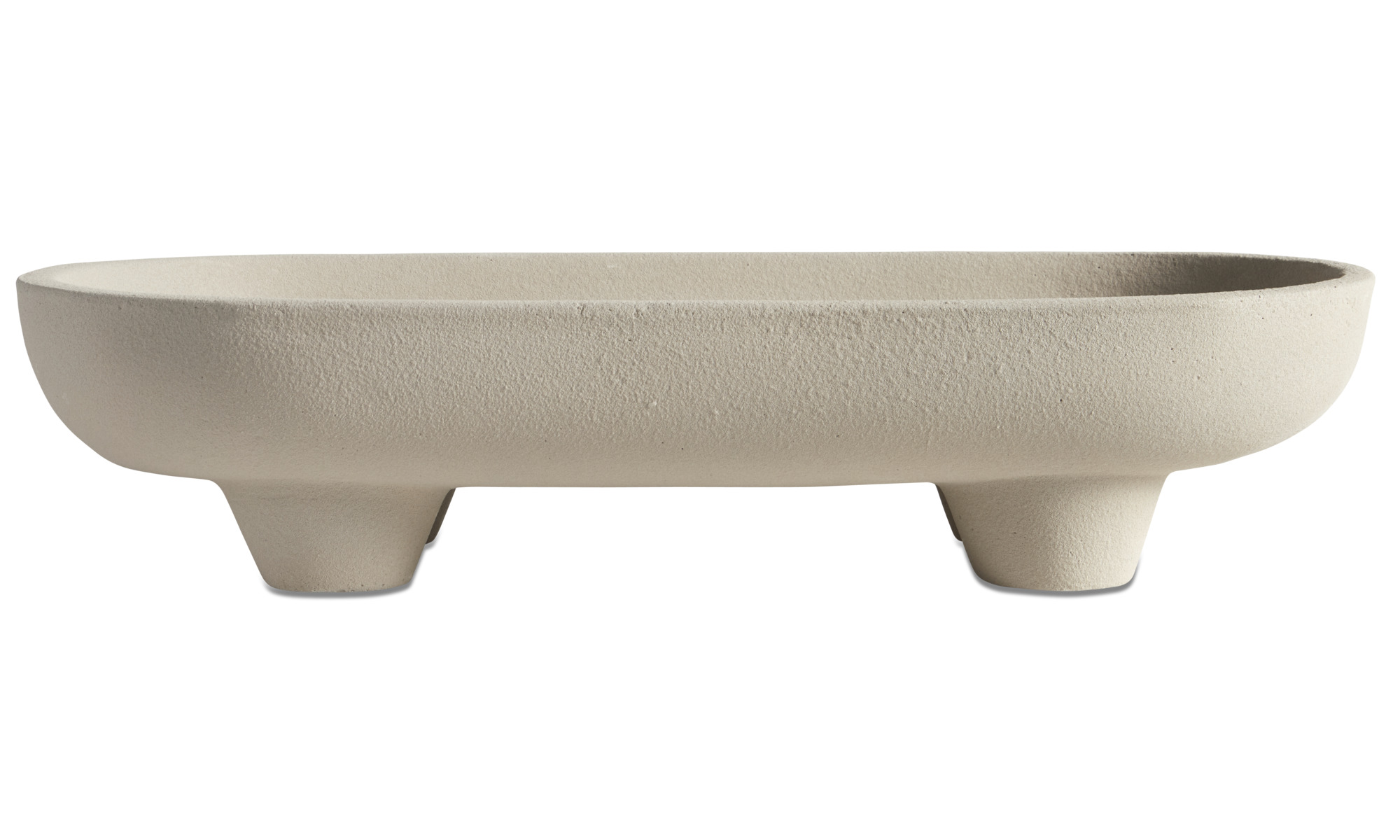 Decoration - Pillars dish - Grey - Fibre cement
