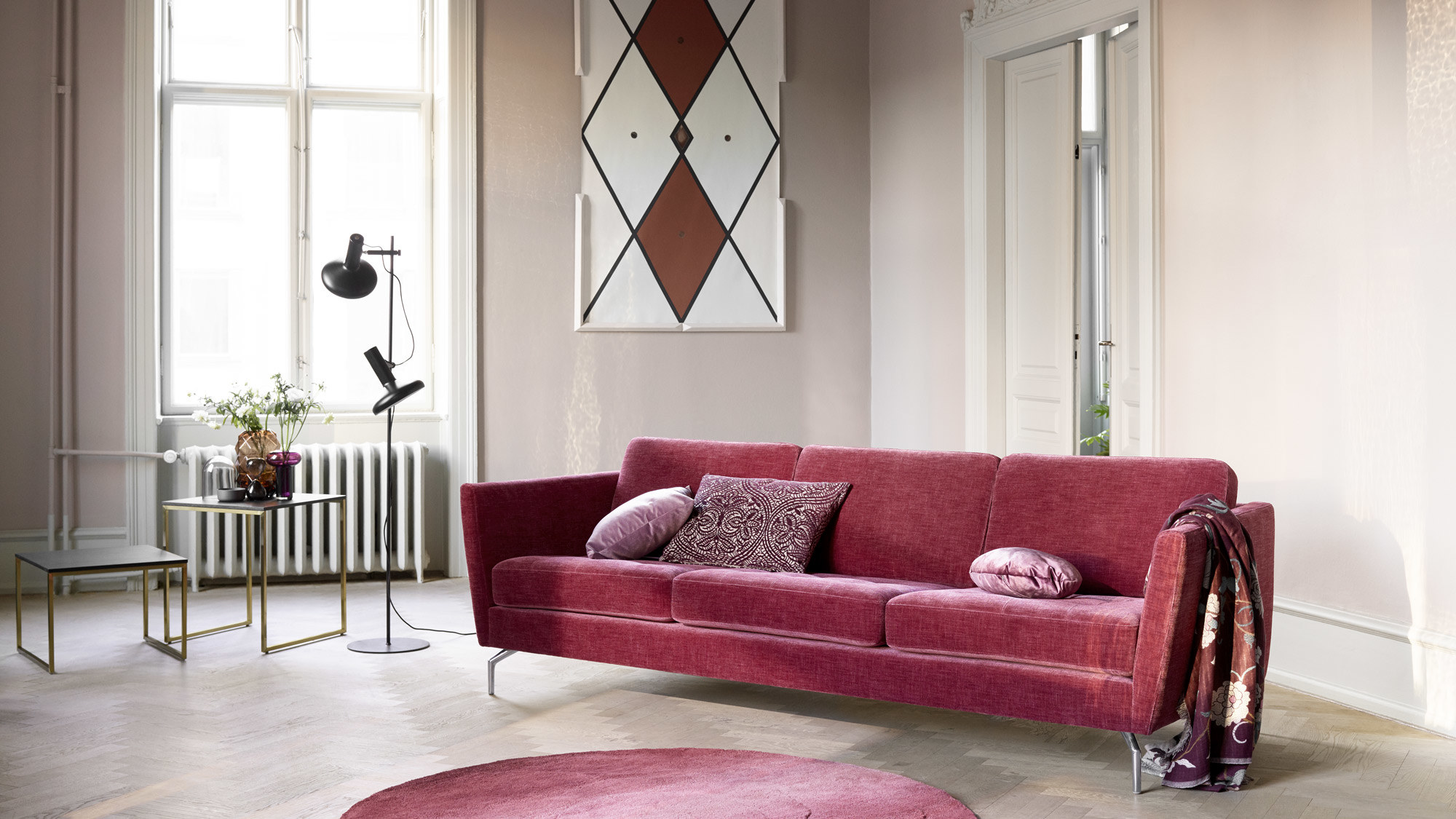 Corner sofas - Osaka corner sofa with lounging unit, tufted seat