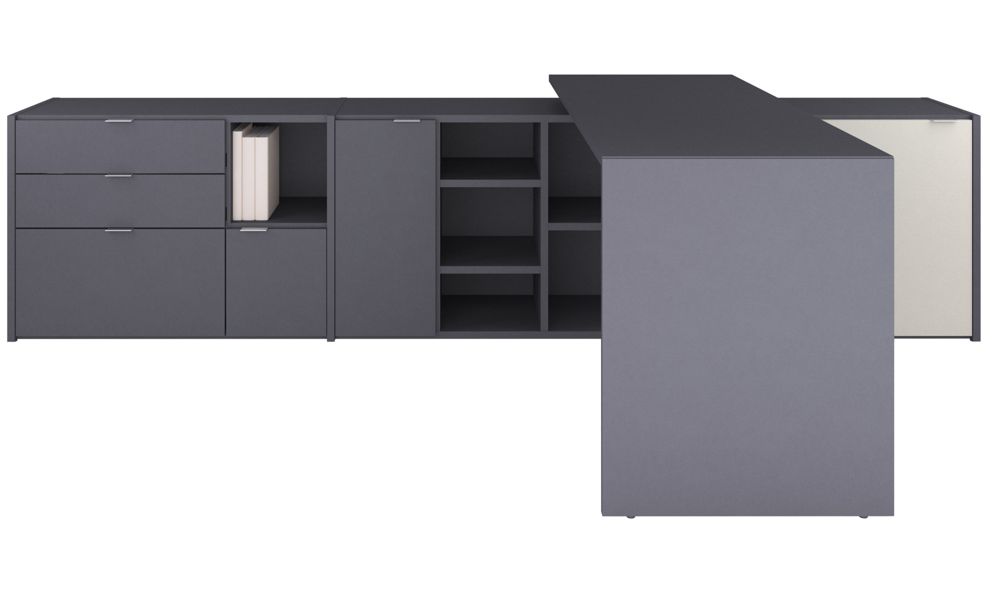 Office storage - Copenhagen office system - Grey - Lacquered