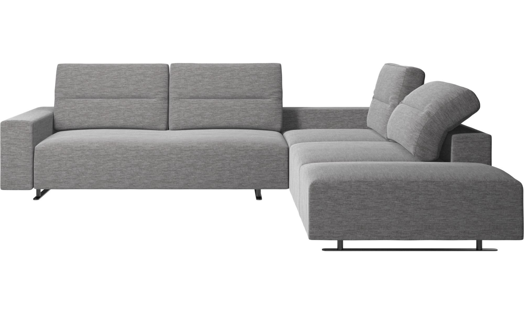 Ecksofas hampton ecksofa mit verstellbarem r cken und loungemodul boconcept - Designer ecksofas stoff ...