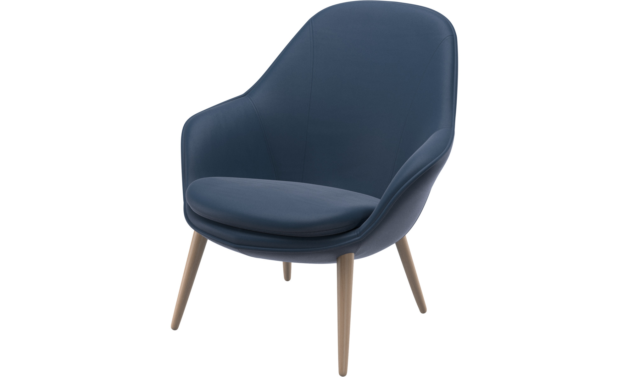 Armchairs - Adelaide living chair - Blue - Leather