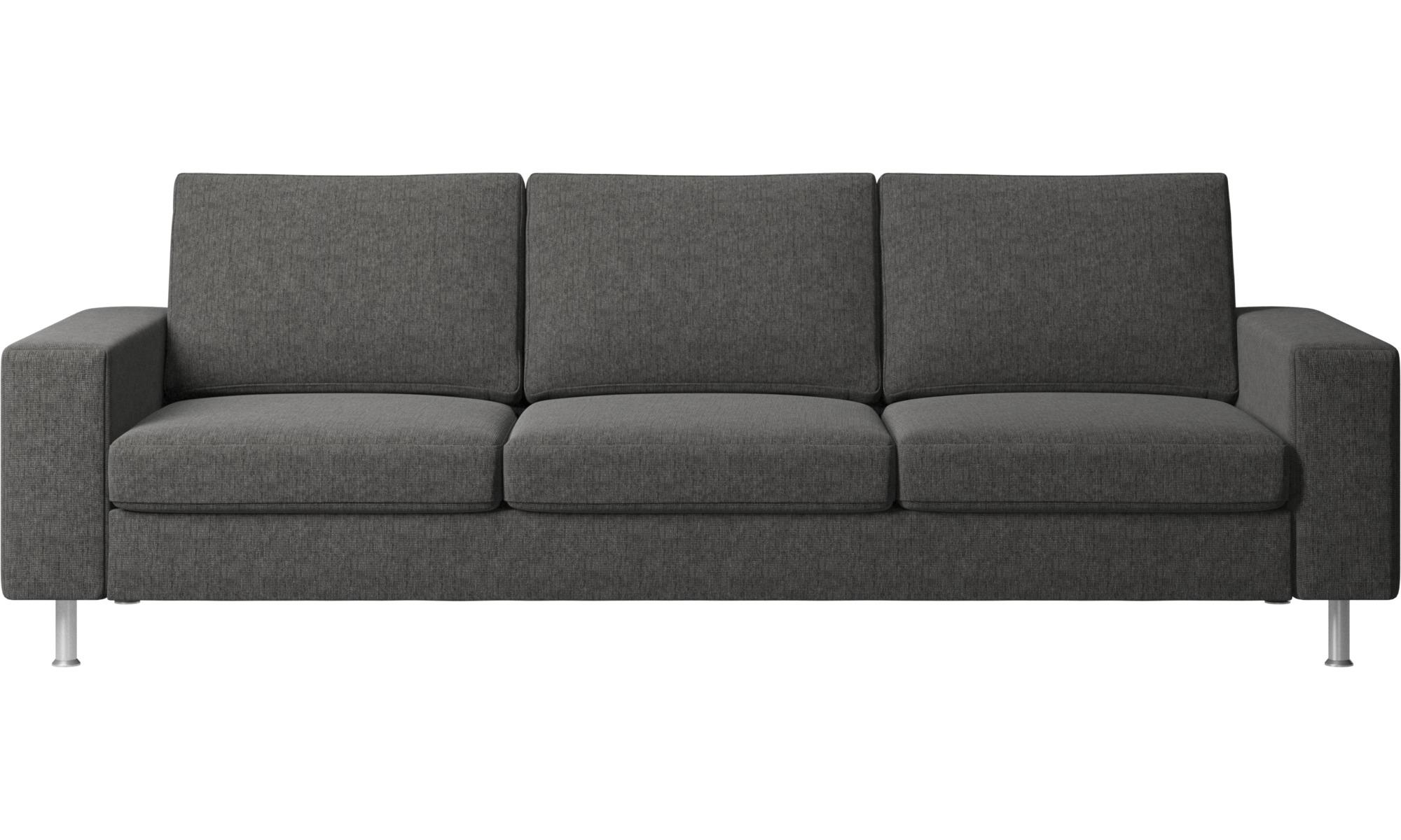 3 Seater Sofas Indivi 2 Sofa Gray Fabric