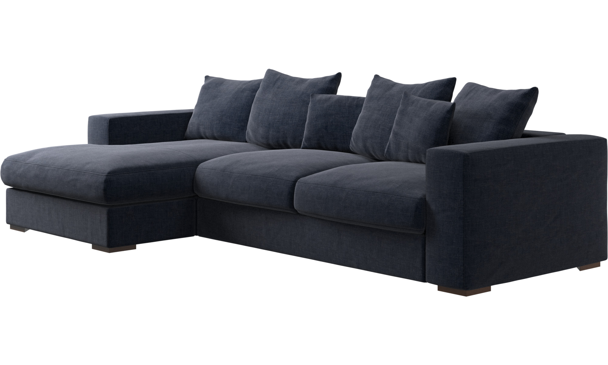 Navy blue napoli cenova sofa with resting unit boconcept for Bo concept