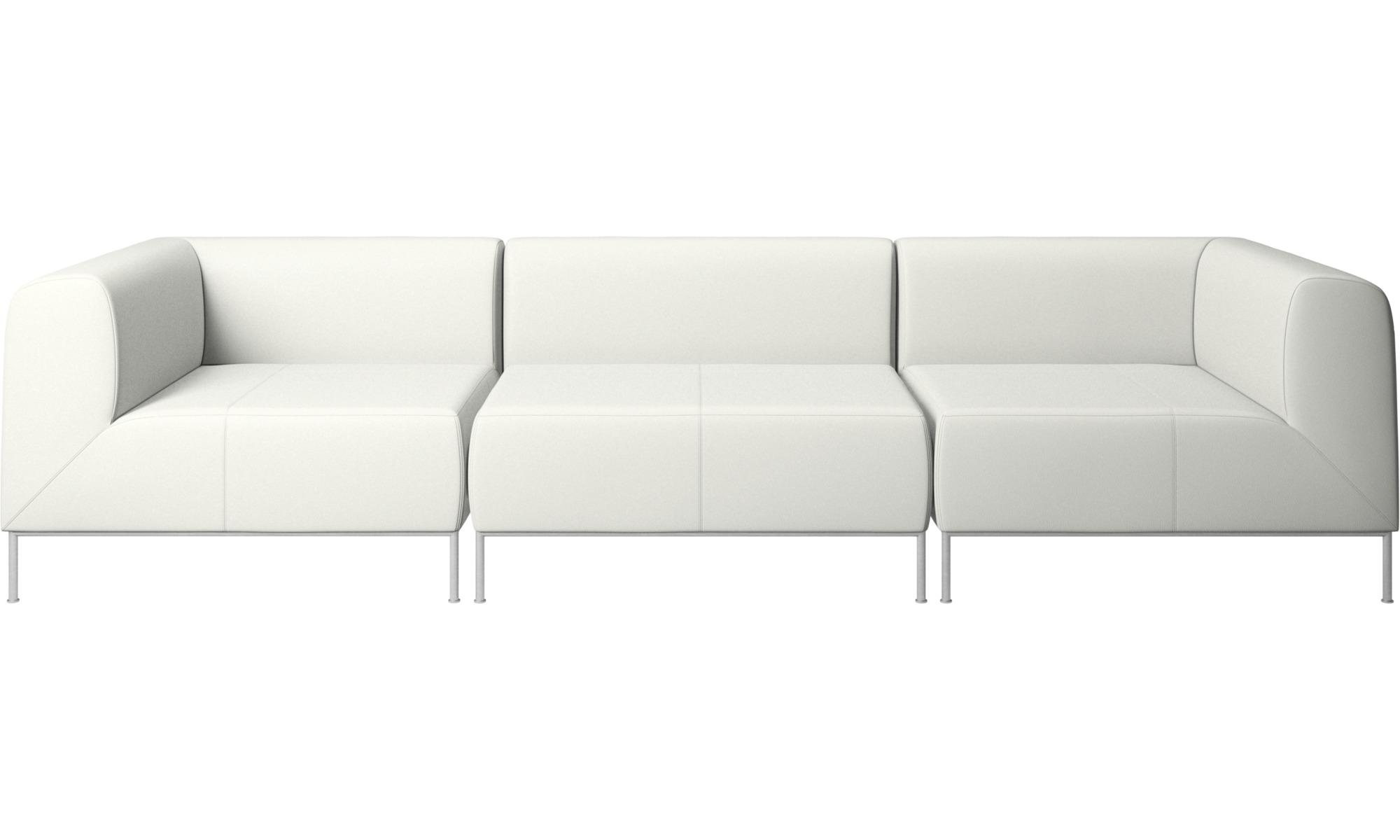 Canapés modulaires - Canapé Miami - Blanc - Cuir