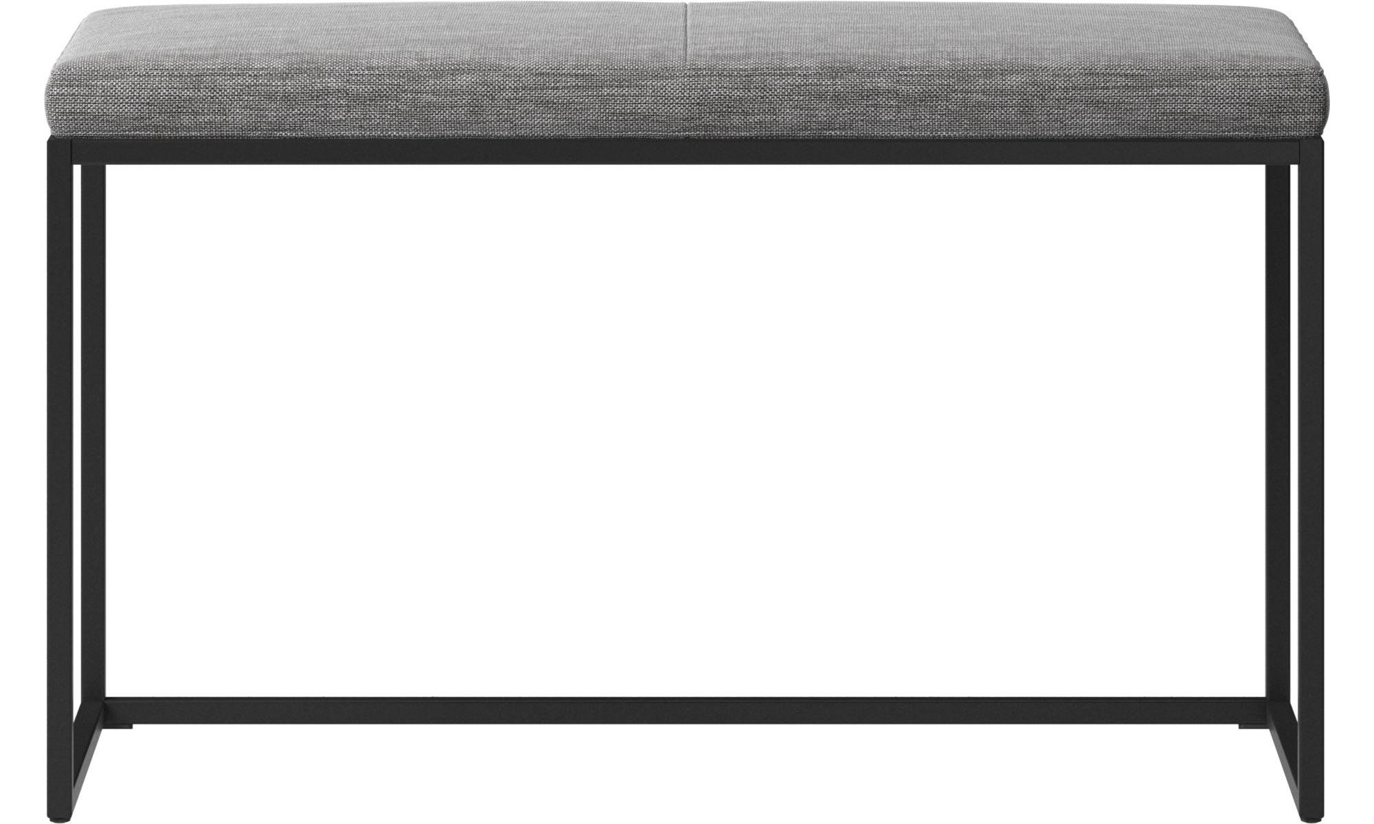 Ławki - Mała ławka London z poduszką - Szary - Tkanina