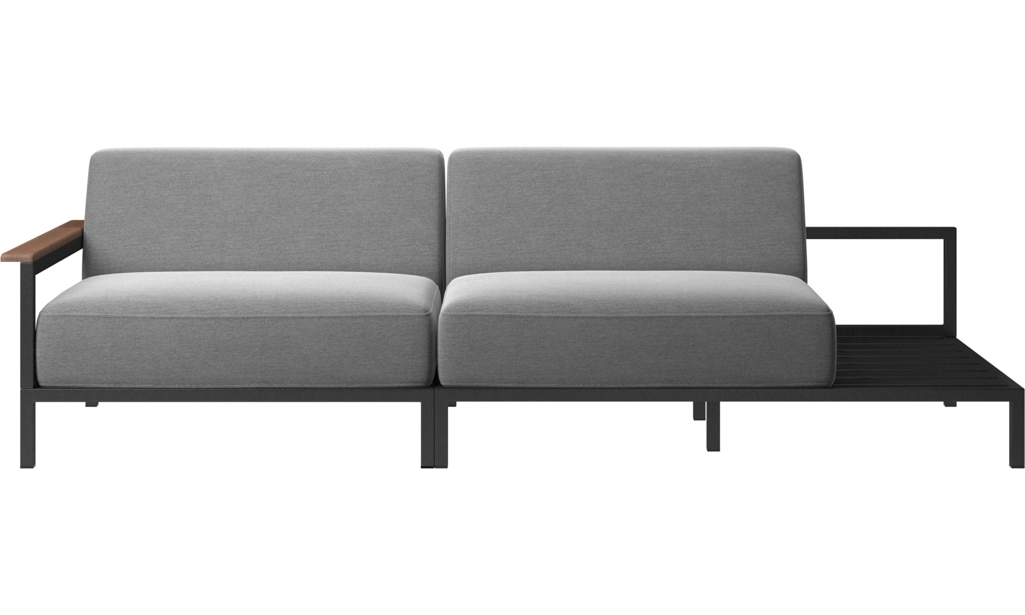 Outdoor Sofas Rome Sofa Gray Fabric