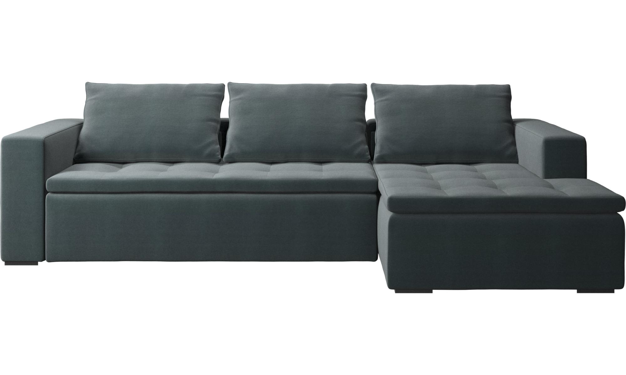 Sofaer med chaiselong - Mezzo sofa med hvilemodul - Blå - Stof