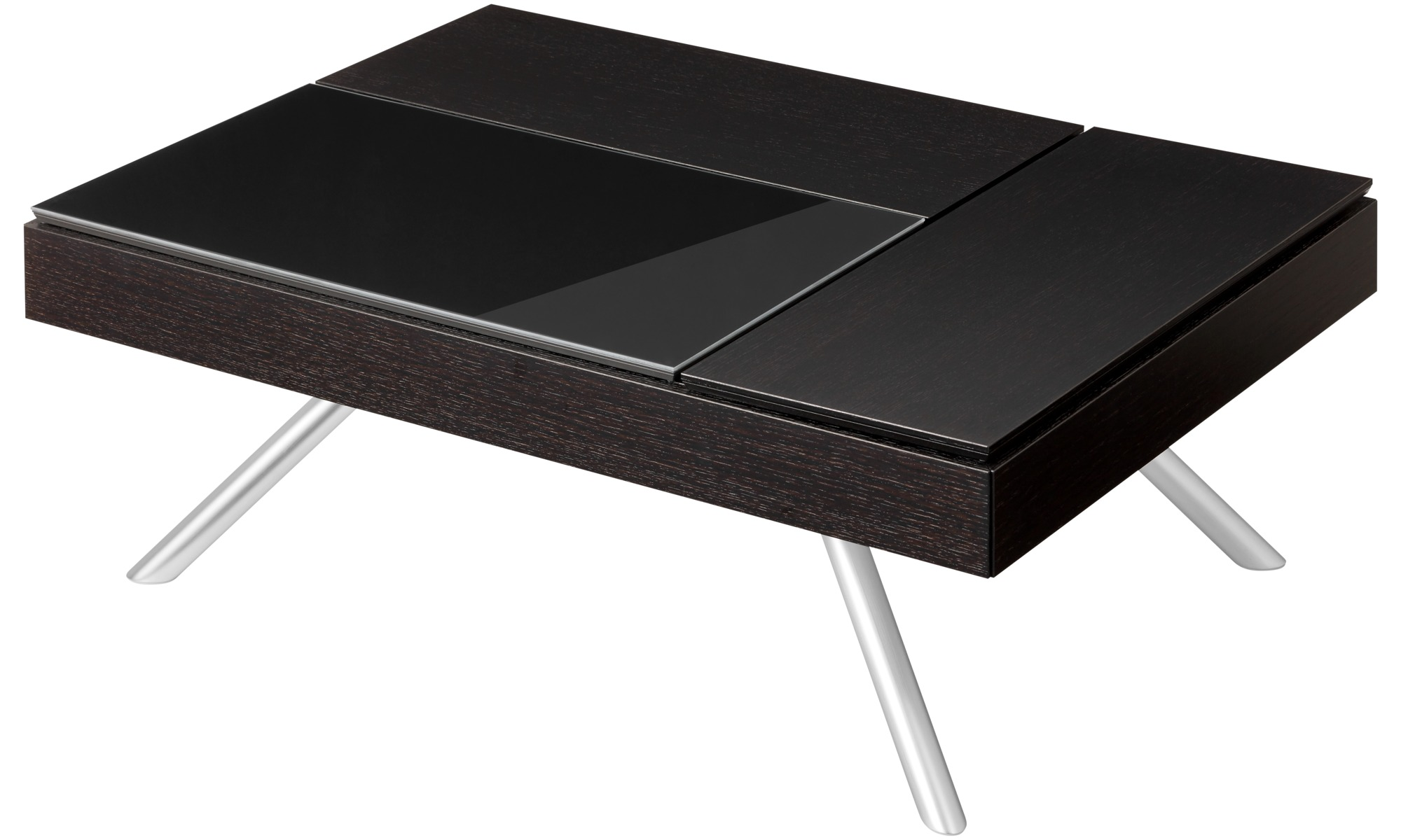 Coffee Tables Chiva Functional Table With Storage Rectangular Black Oak