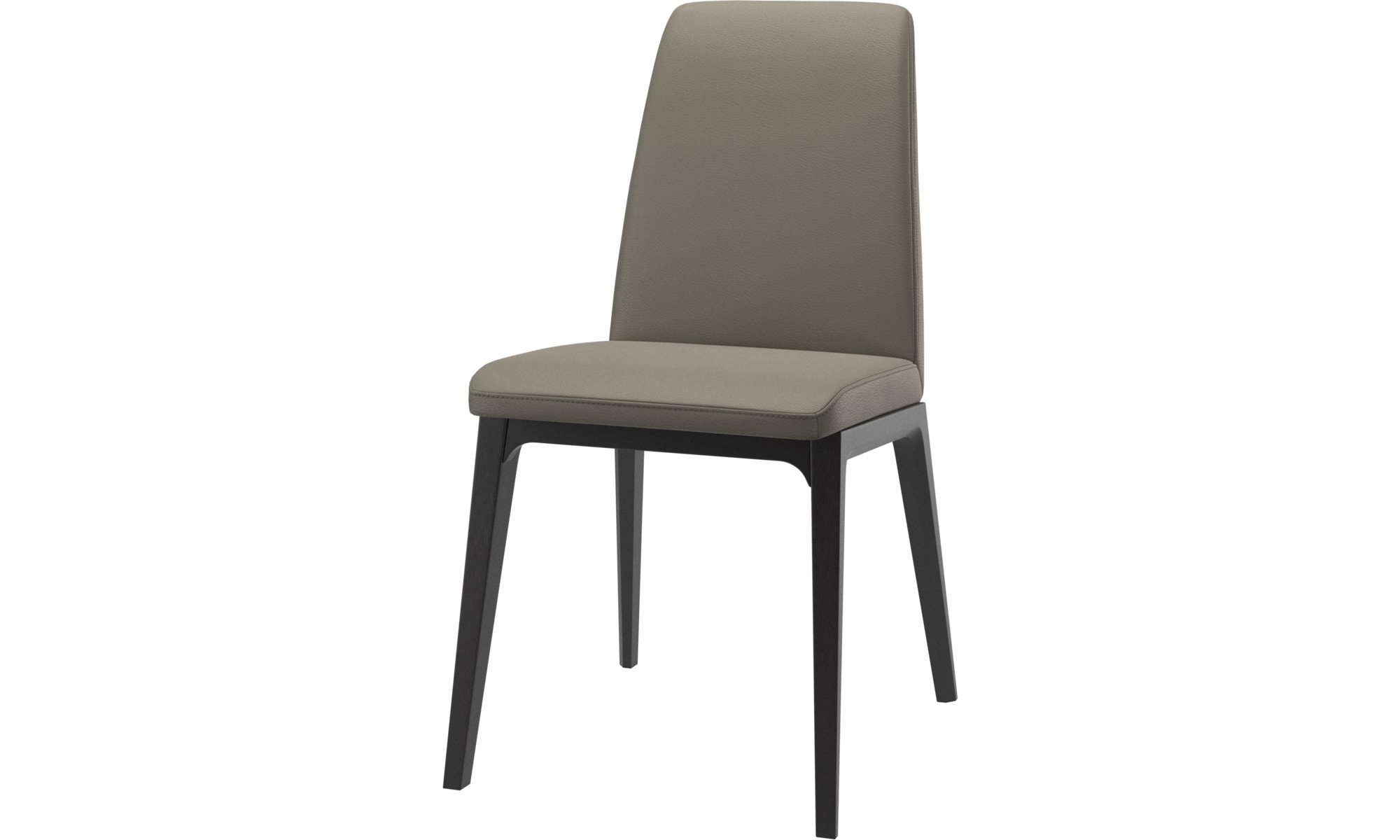 Dining chairs - Lausanne chair - Grey - Leather