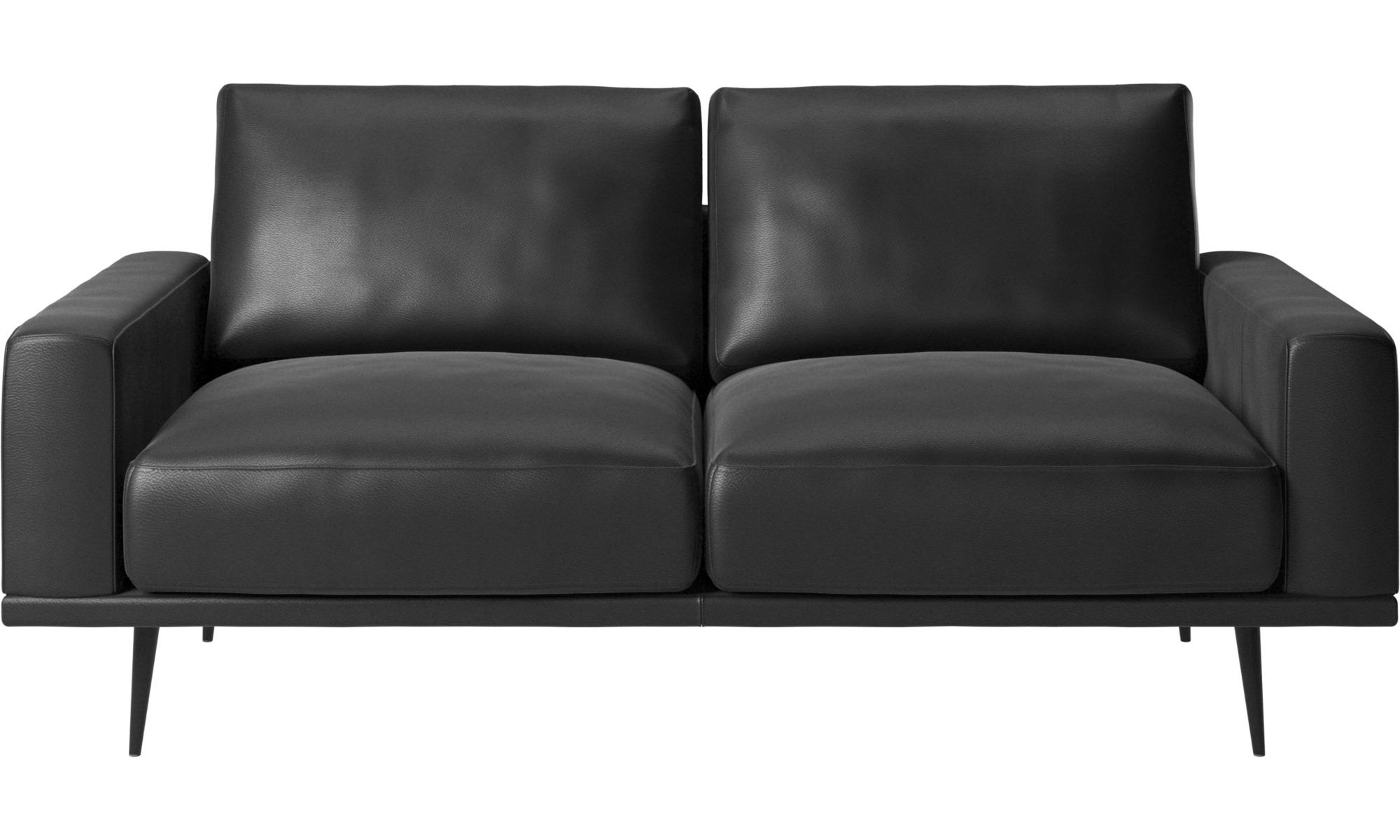 Divano Nero In Pelle.2 Seater Sofas Carlton Divano Boconcept