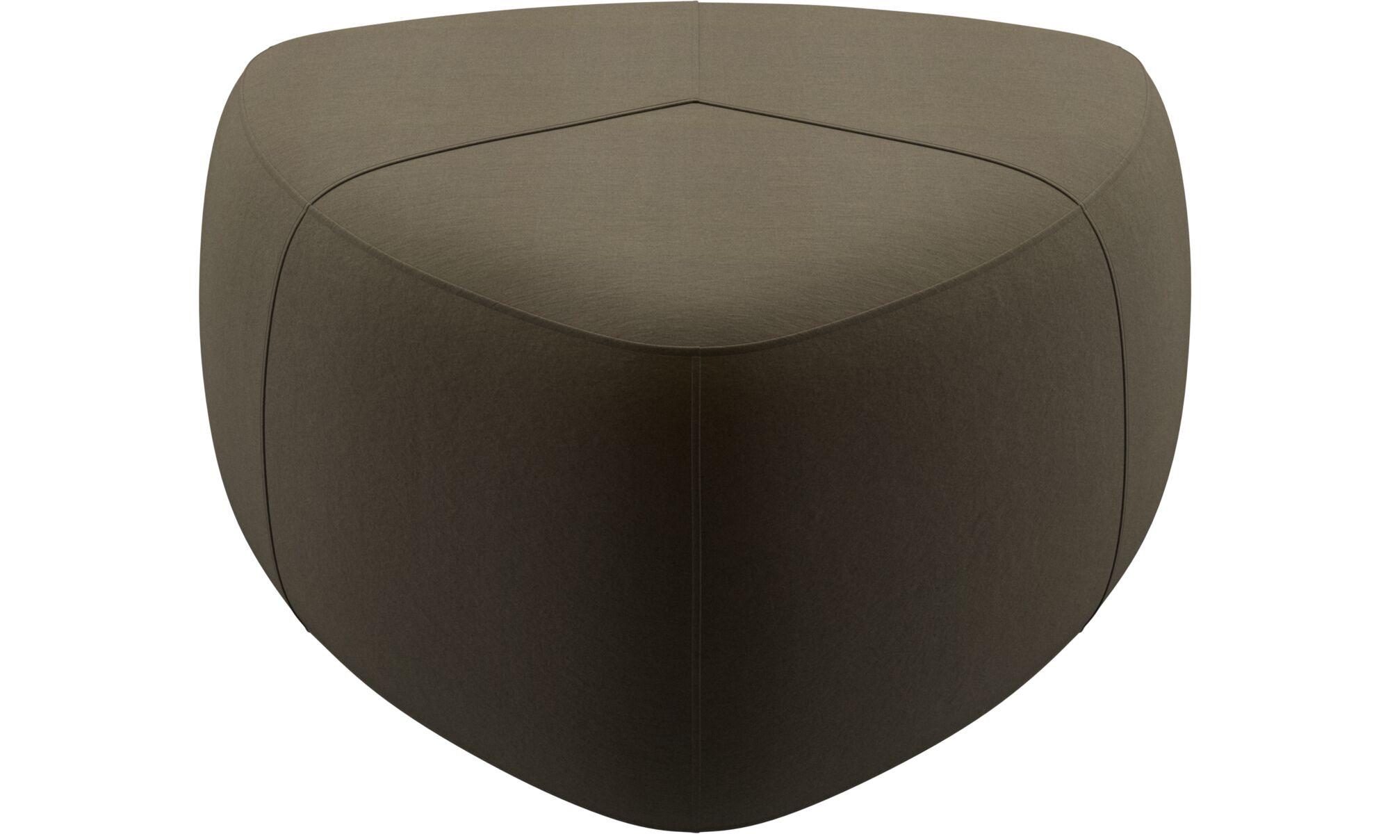 Footstools - Bermuda footstool - Brown - Fabric