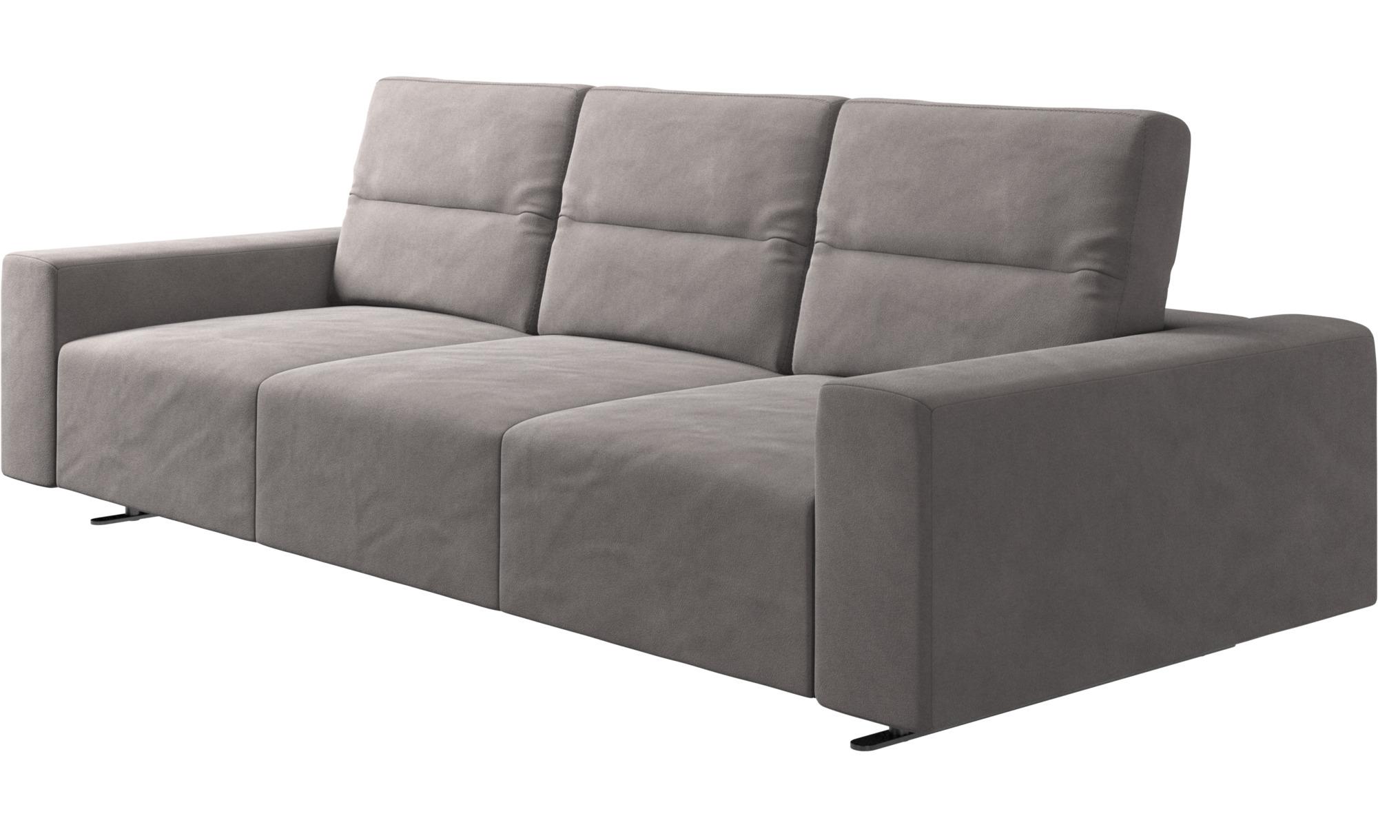 Künstlerisch Sofa Mit Verstellbarer Rückenlehne Foto Von 3-sitzer Sofas - Hampton Rückenlehne - Grau
