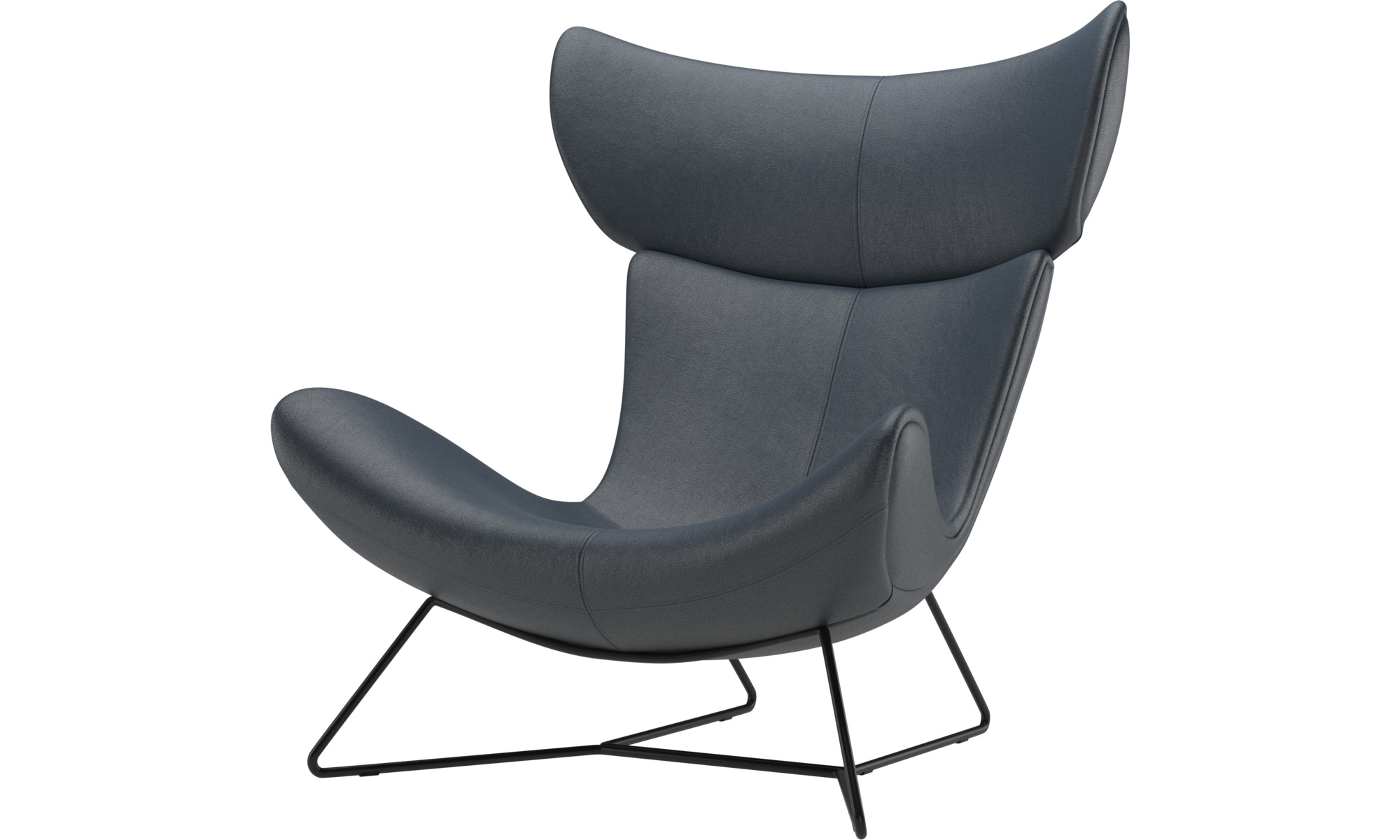 Armchairs - Imola chair - Blue - Fabric