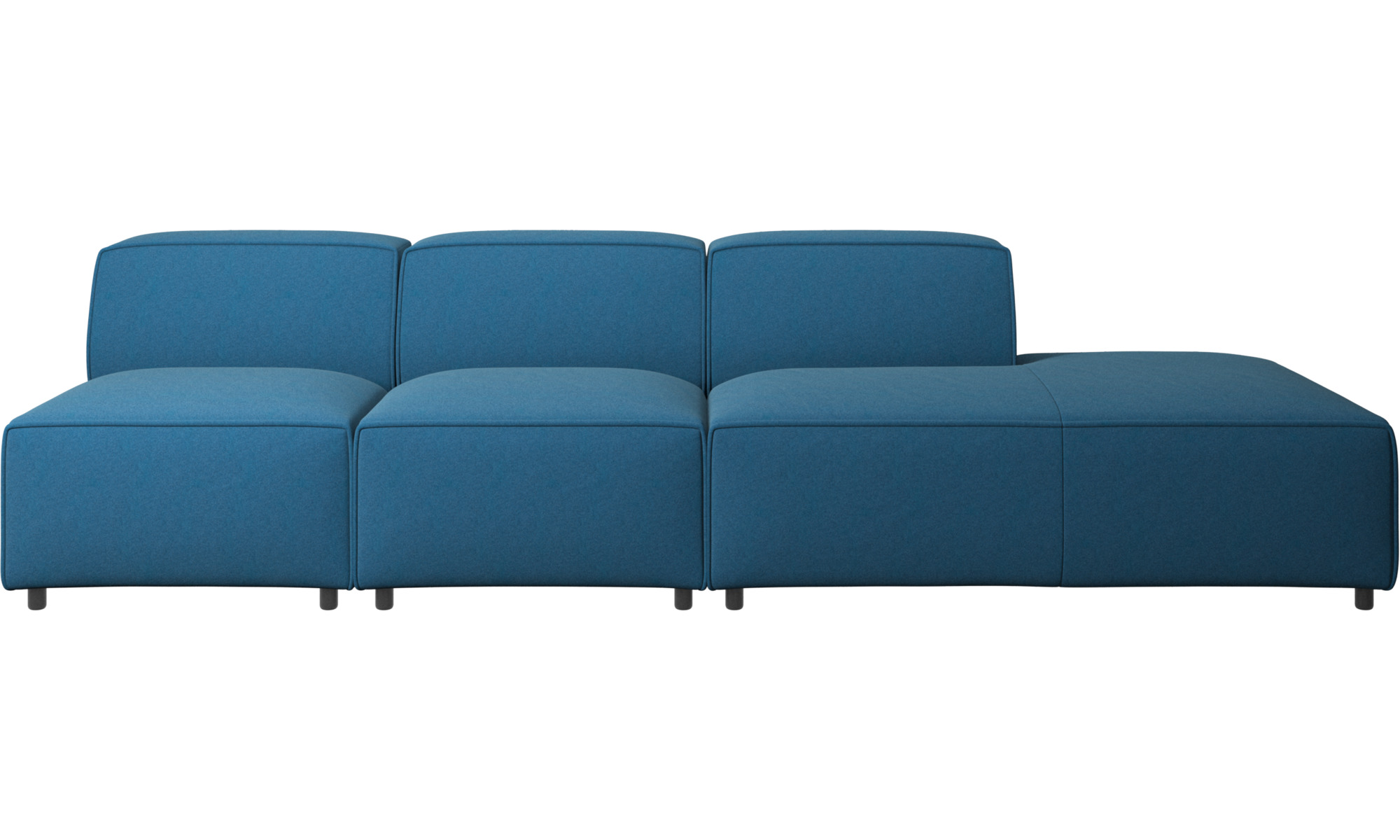 sofas with open end carmo sofa with lounging unit boconcept. Black Bedroom Furniture Sets. Home Design Ideas