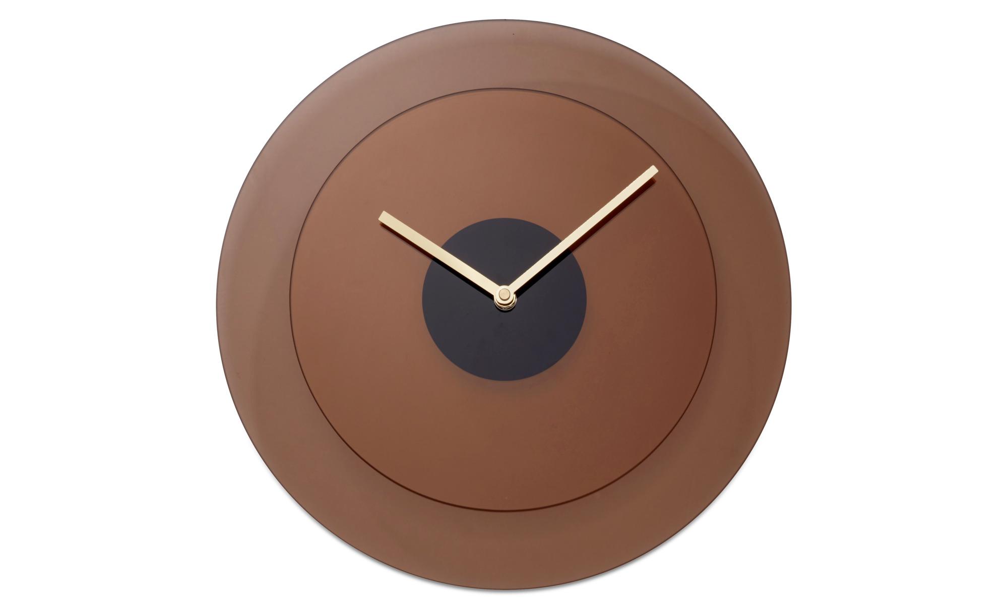 Dekoracja - Zegar ścienny Layer - Pomarańczowy - Szkło