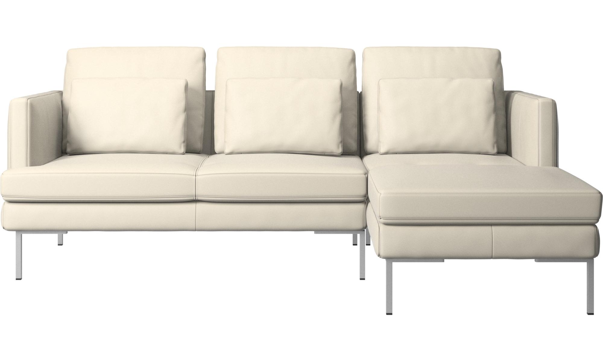 Canapés avec chaise longue - Canapé Istra 2 avec chaise longue - Blanc - Cuir