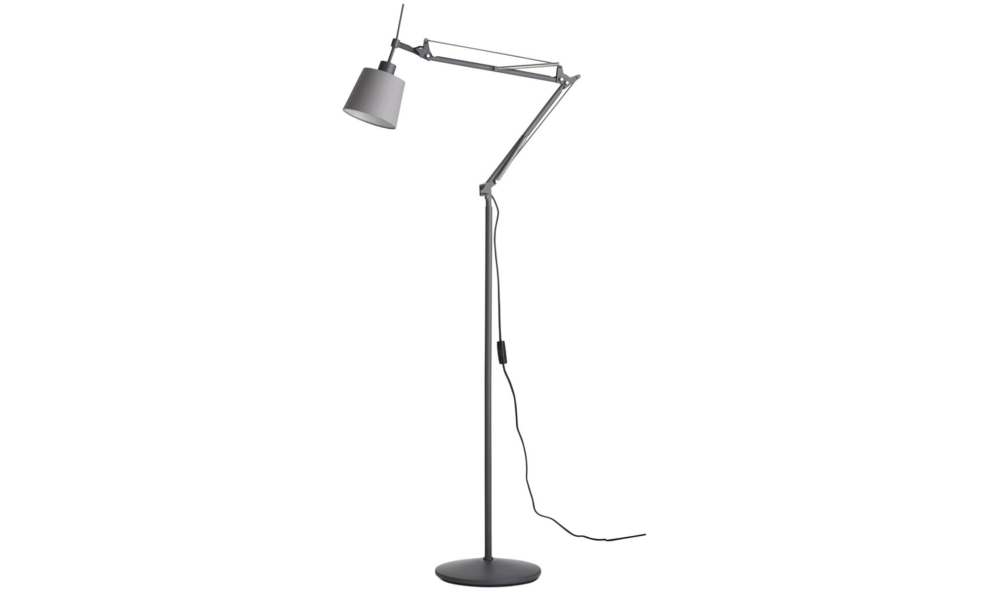 Lampy - Lampa podłogowa Berlin - Szary - Metal
