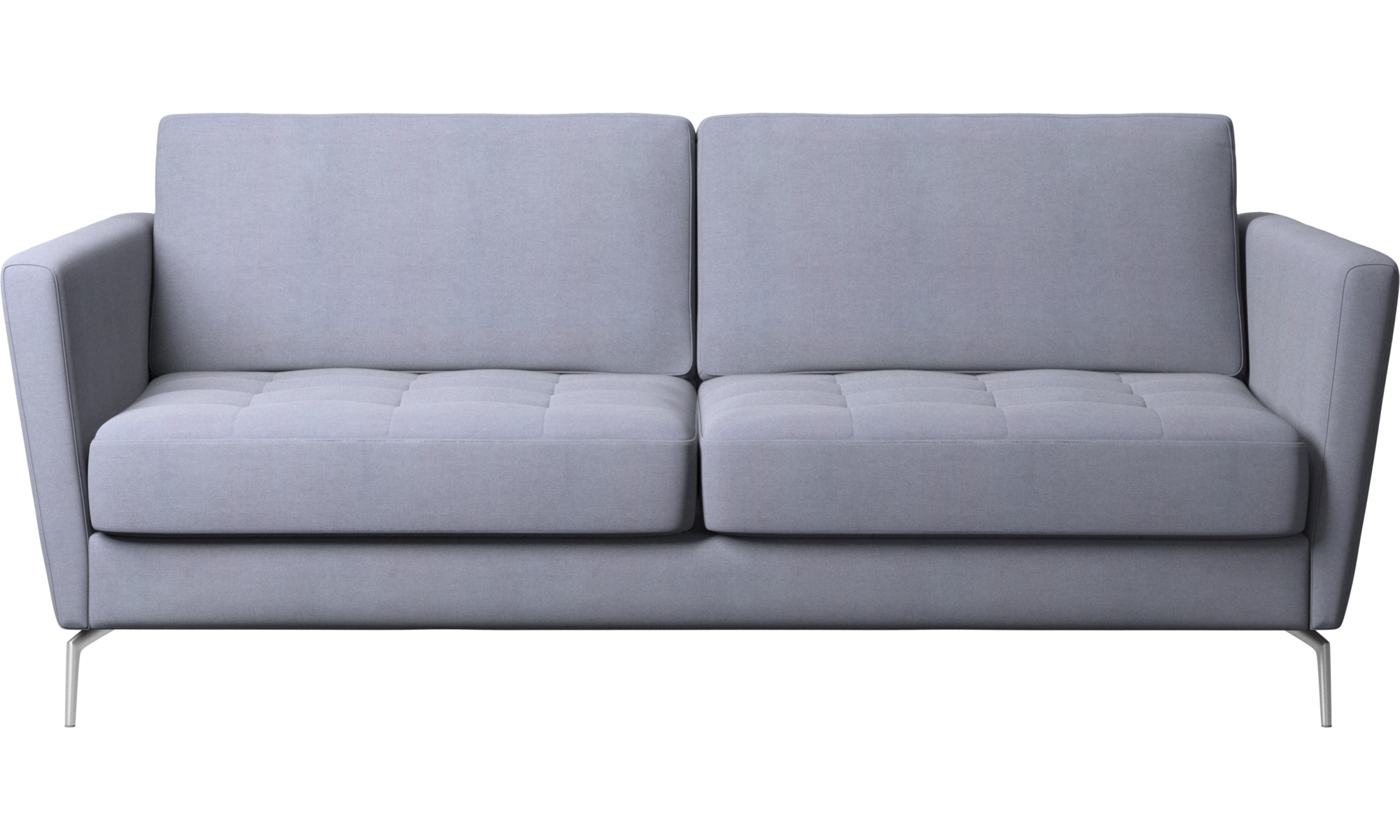 Sofy rozkładane - Sofa Osaka z funkcją spania, pikowane siedzisko - Niebieski - Tkanina